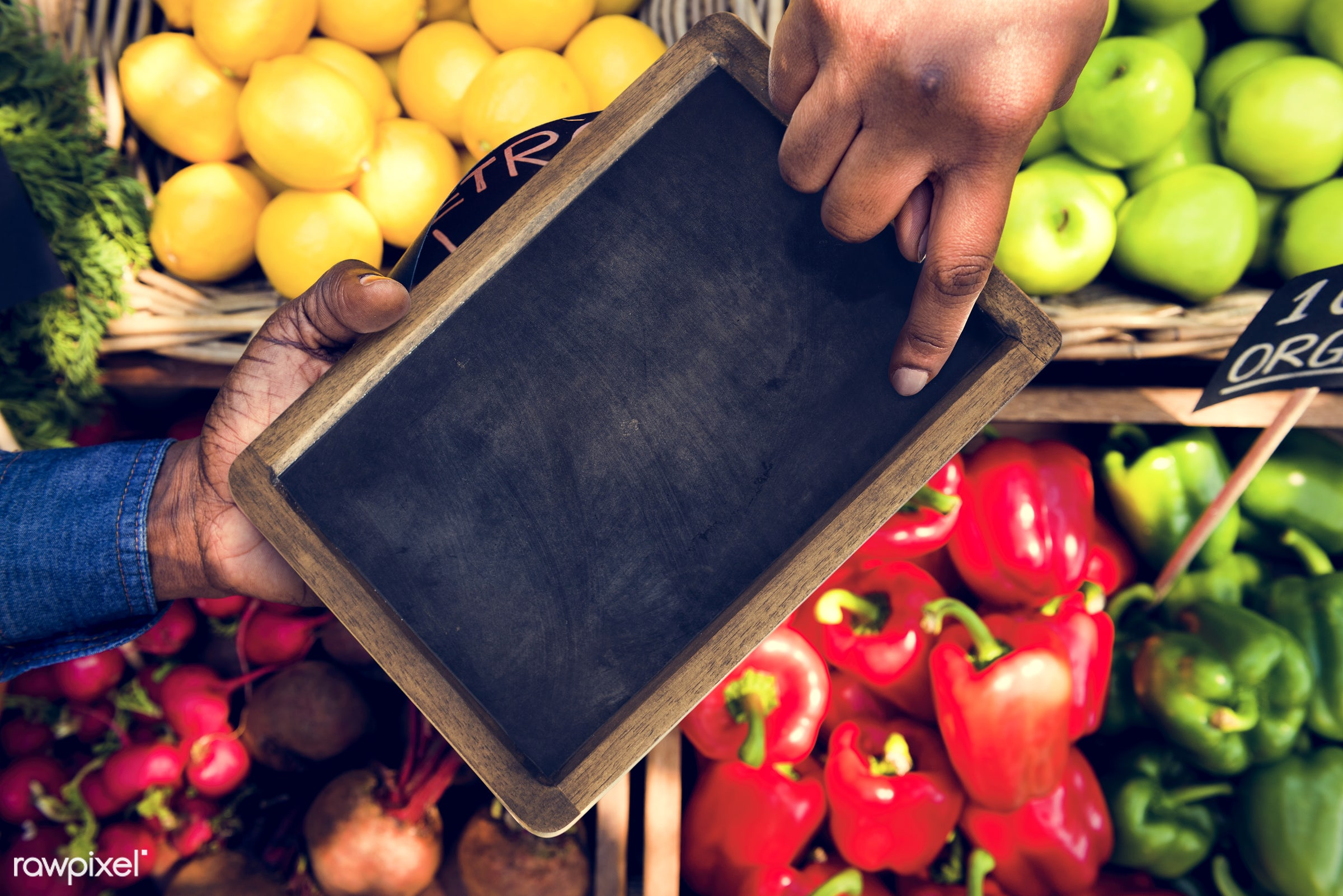 grocery, shop, copy space, nutritious, store, holding, bell pepper, farmer, fresh, hands, healthy eating, marketplace,...