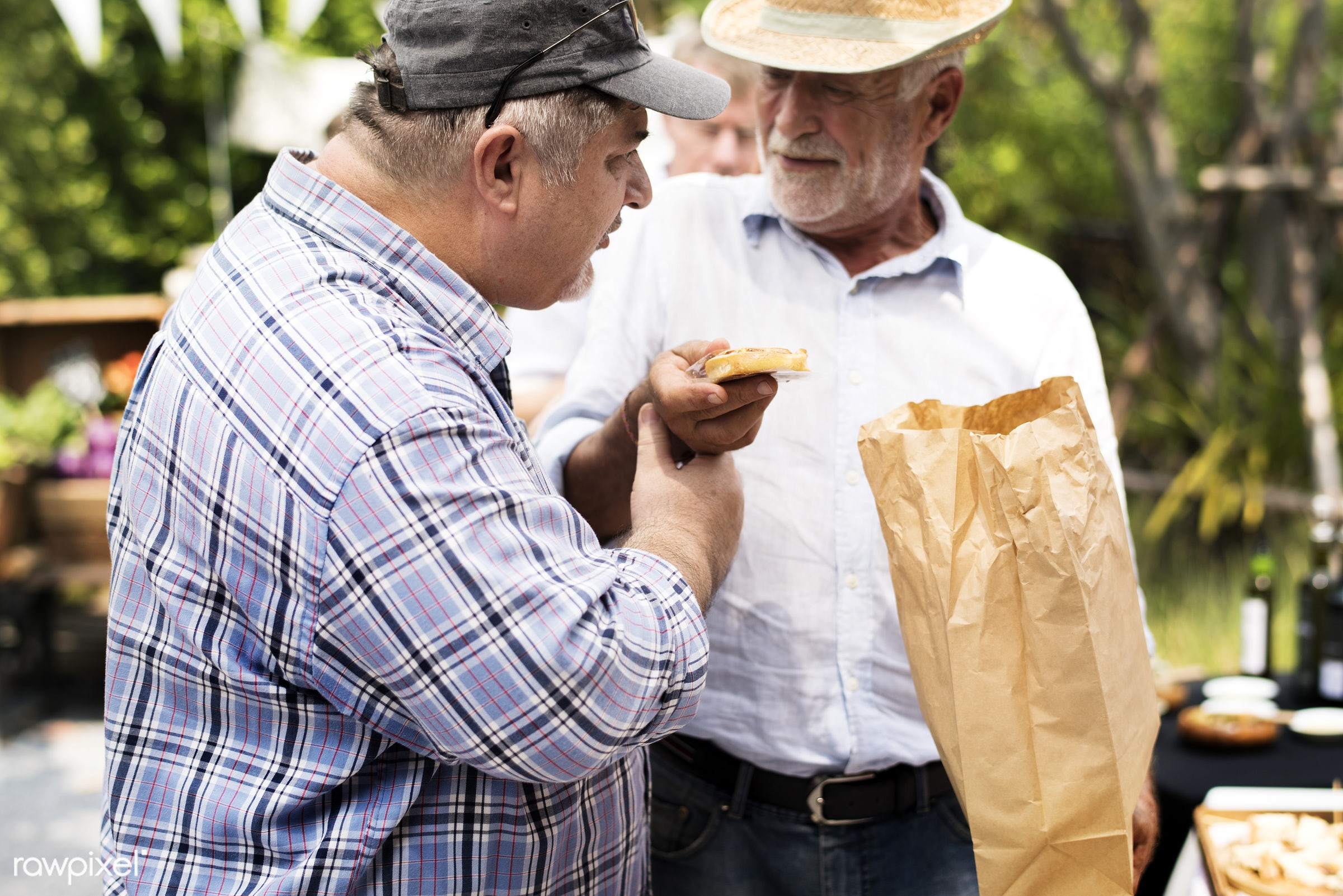 shop, person, stall, pastries, buy, holding, homemade, people, together, caucasian, retirement, roll, friends, bakery, bread...