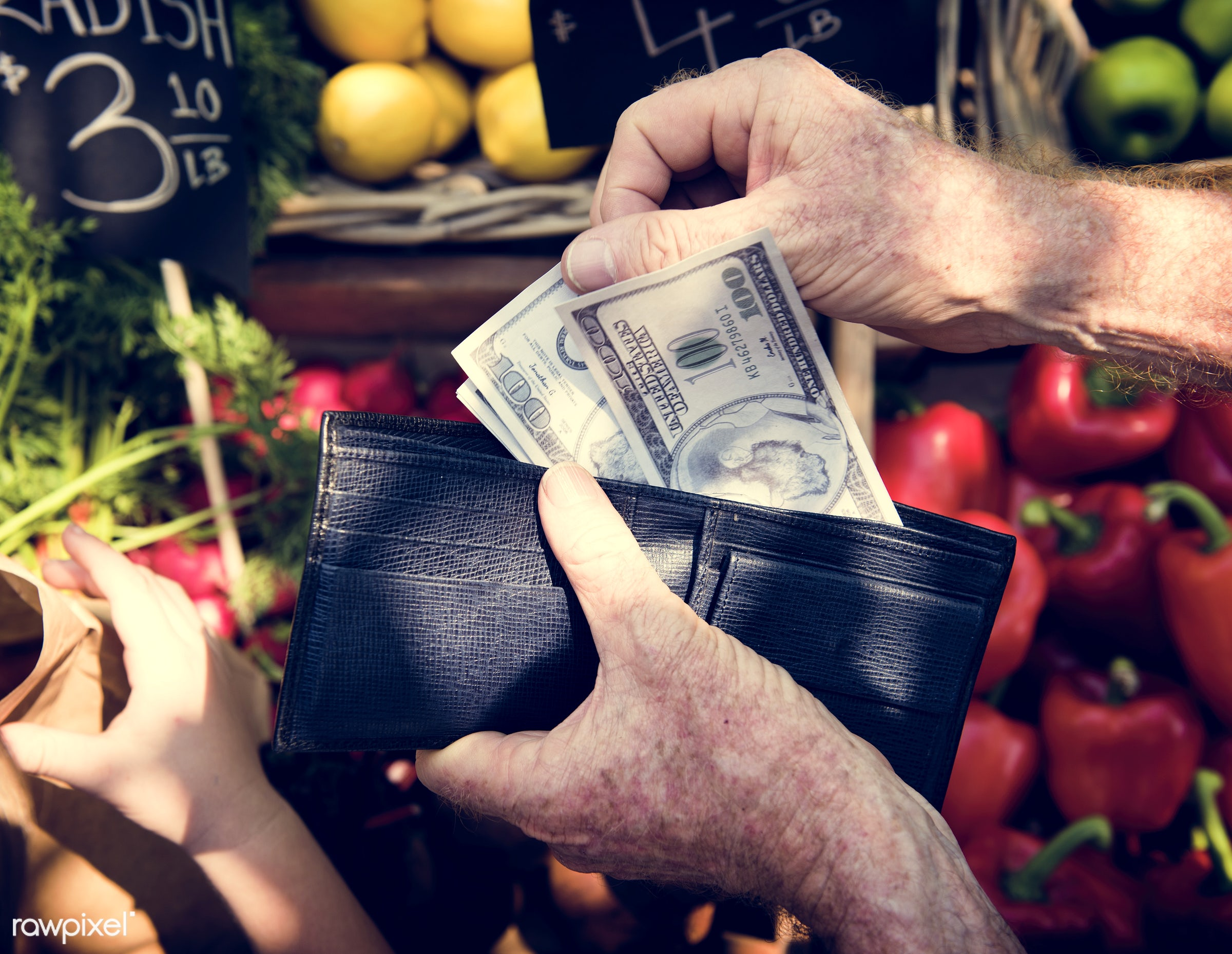 grocery, shop, store, holding, bell pepper, wallet, farmer, spending, fruit, agriculture, greengrocer, nutrition, market,...