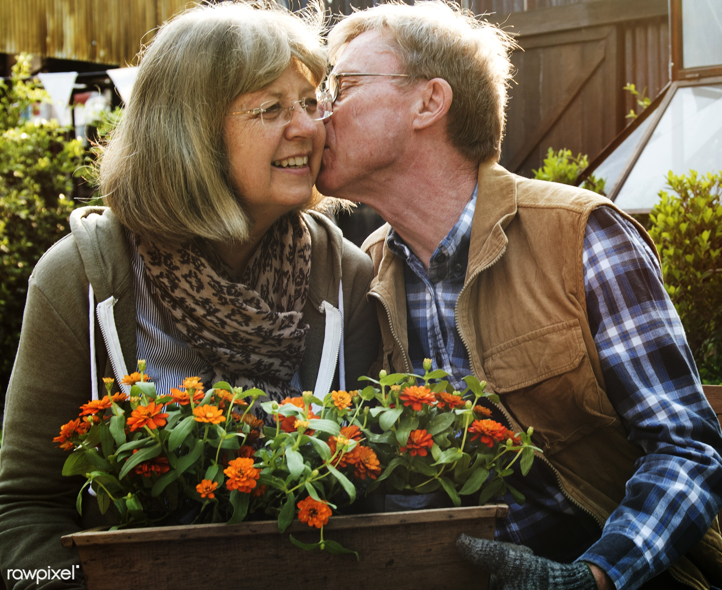 expression, person, holding, smitten, people, together, love, kiss, retirement, cherish, family, woman, lifestyle, intimate...
