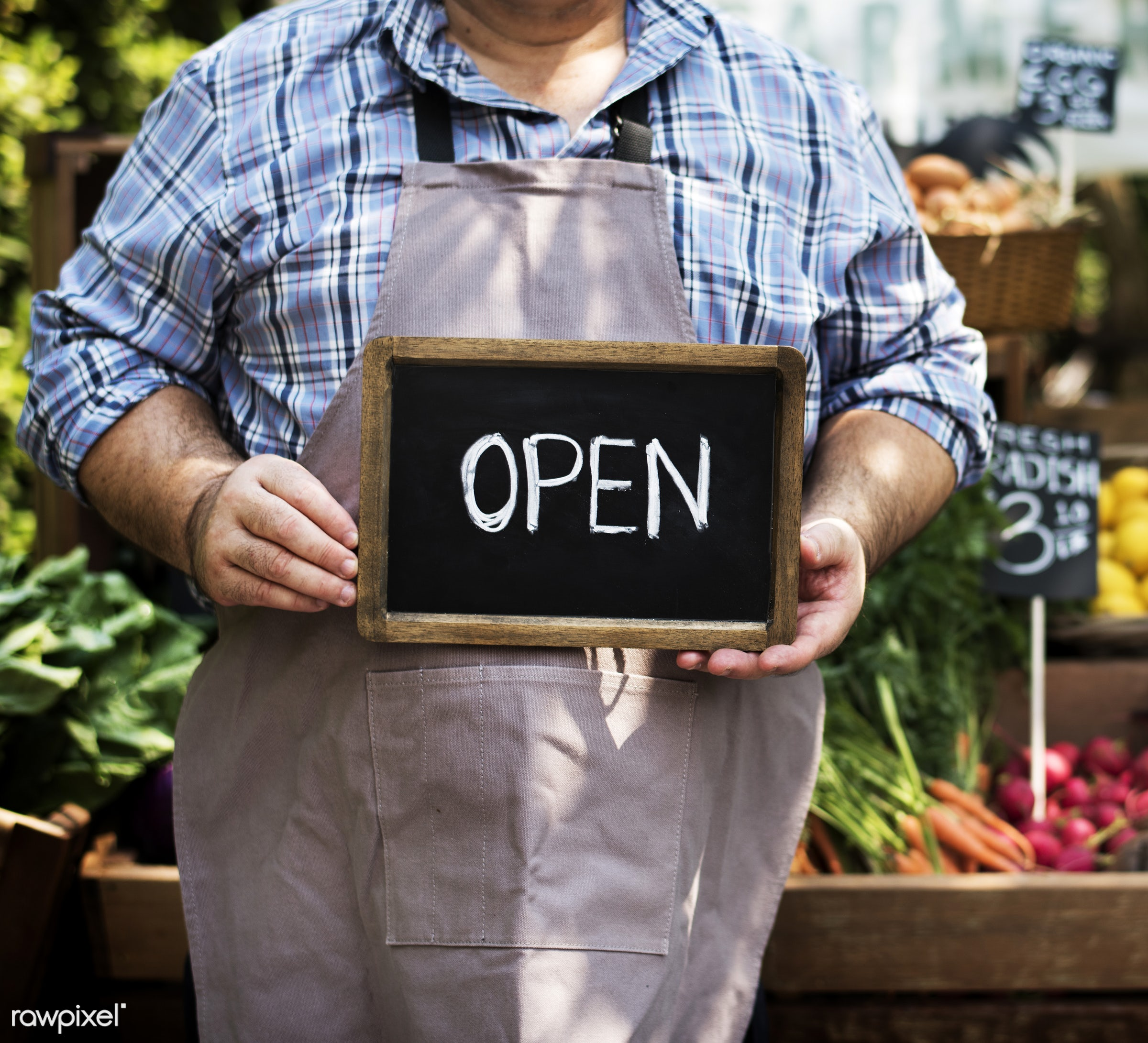 grocery, shop, person, store, stall, holding, consumer, people, open, farmer, lifestyle, choosing, choose, smiling, fruit,...