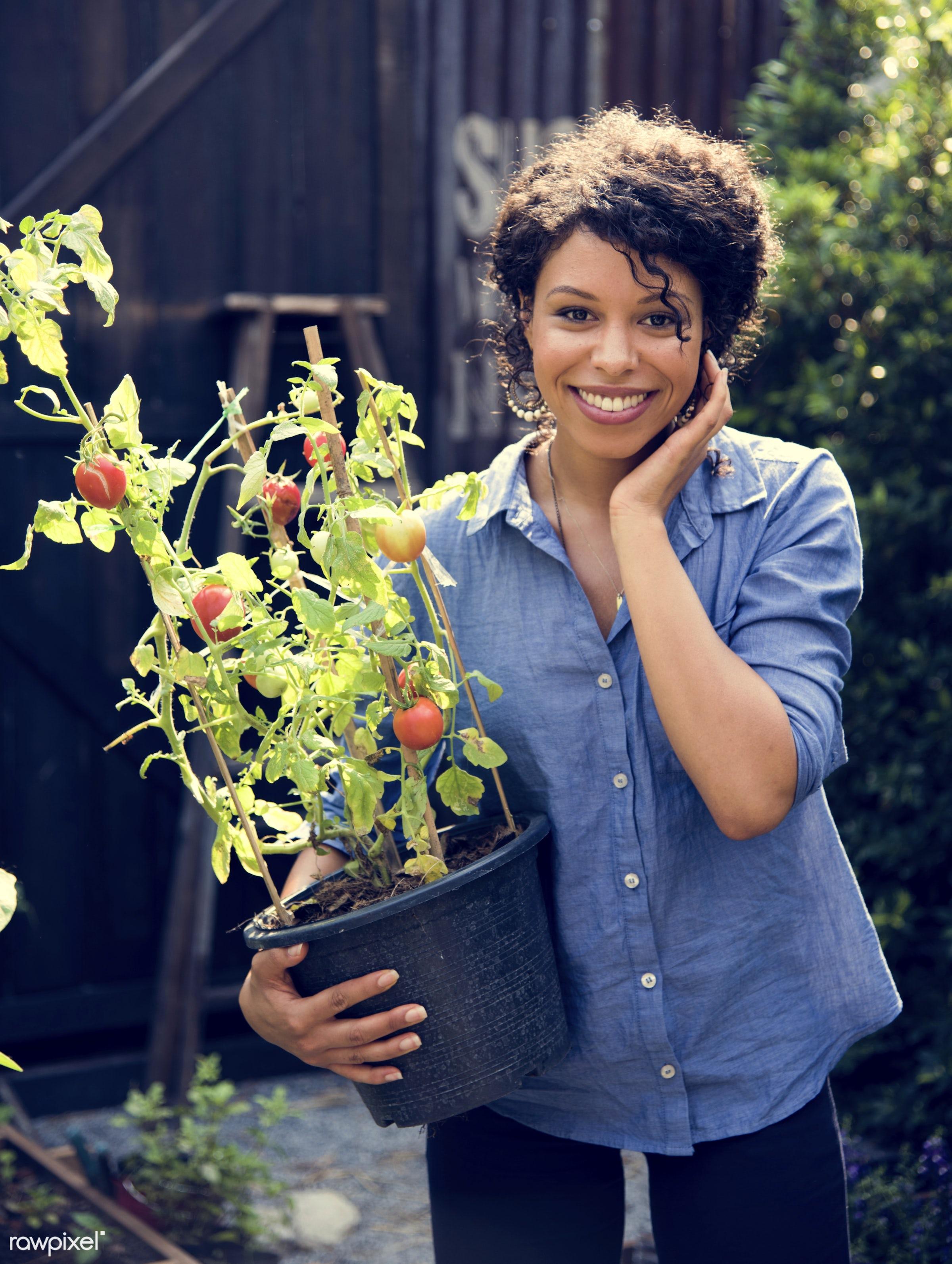 countryside, plant, person, greenhouse, botany, shrub, botanical, plantation, caucasian, tree, nature, farmer, woman,...