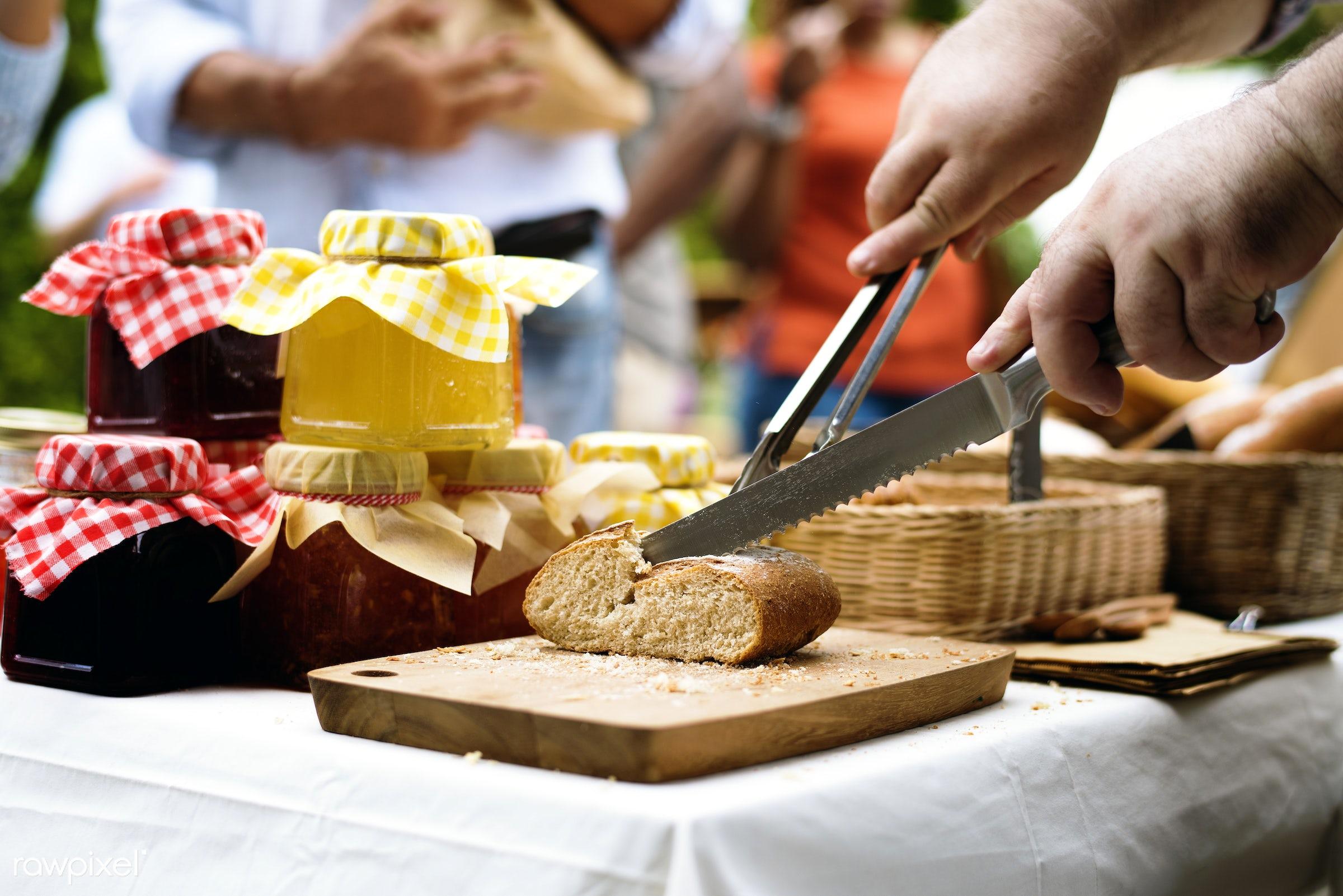 grocery, shop, cutout, stall, cuisine, pastries, bake, goods, homemade, baked, taste, bakery, fresh, bread, various, jam,...