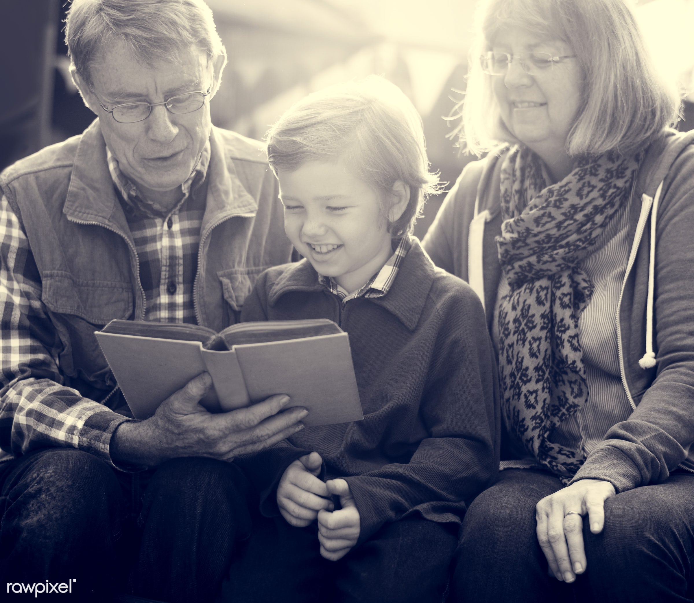 expression, reading, person, bench, relax, holding, people, together, grandchild, love, break, retirement, nature, family,...