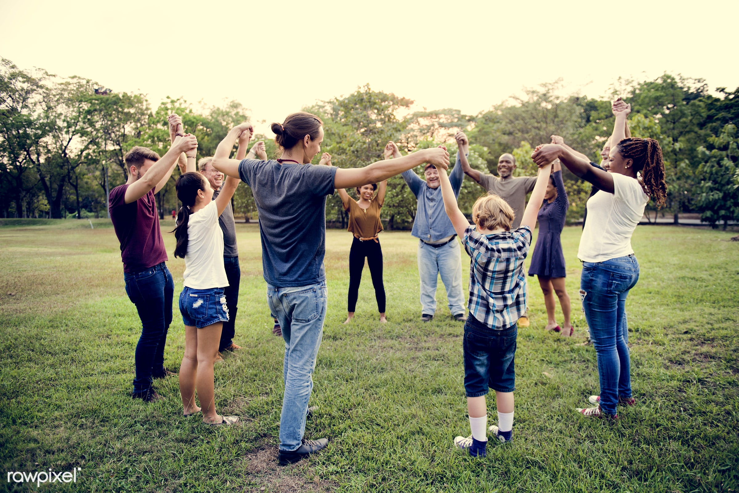 expression, holding, joy, arms raised, children, circle, beauty, holding hand, people, friends, nature, young adult,...