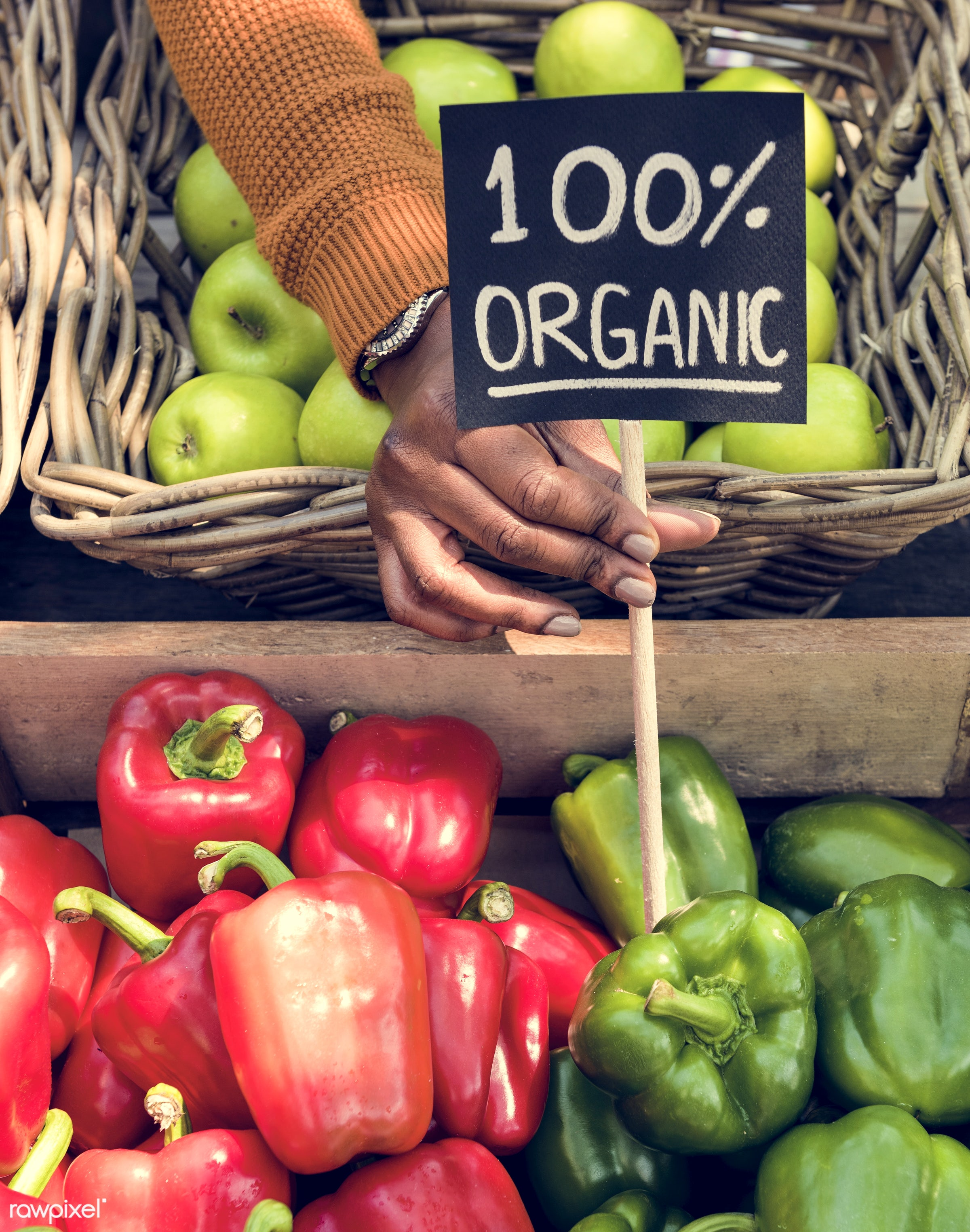 grocery, shop, store, nutritious, holding, bell pepper, hand, farmer, fresh, healthy eating, marketplace, fruit, agriculture...