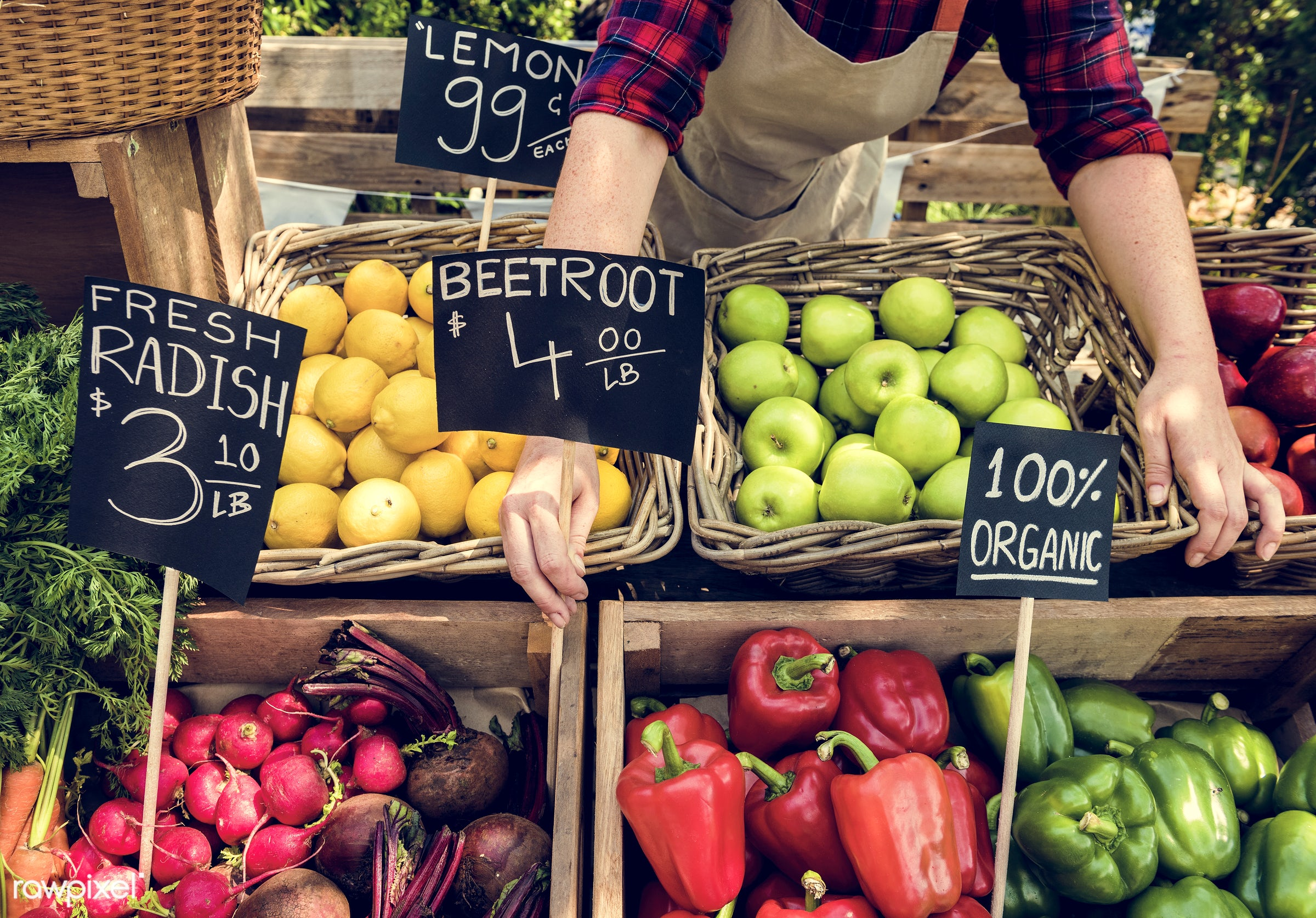 grocery, shop, store, nutritious, carrot, bell pepper, farmer, fresh, healthy eating, marketplace, banner, fruit,...