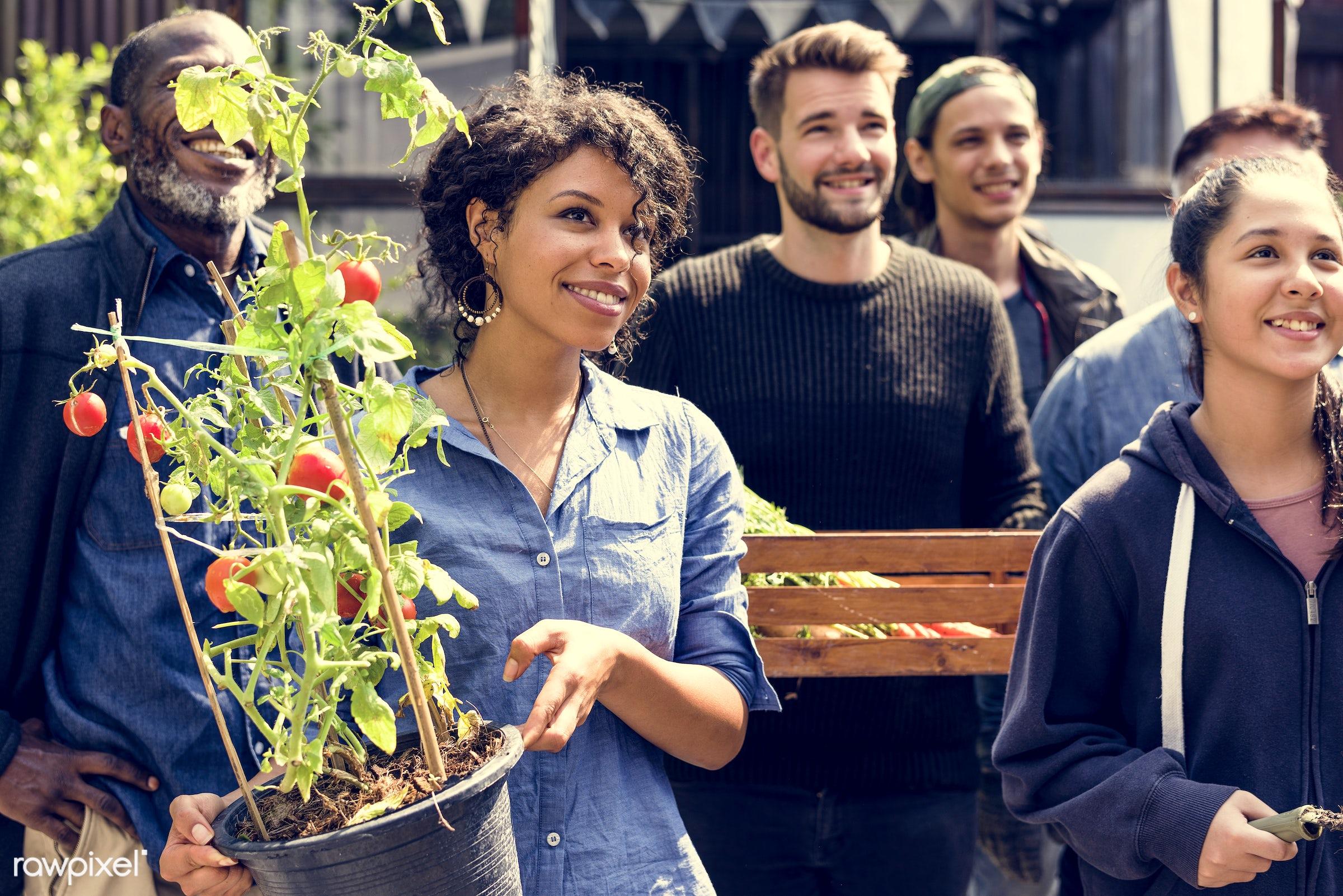 countryside, diverse, greenhouse, botanical, people, plantation, teamwork, friends, tree, nature, woman, lifestyle,...
