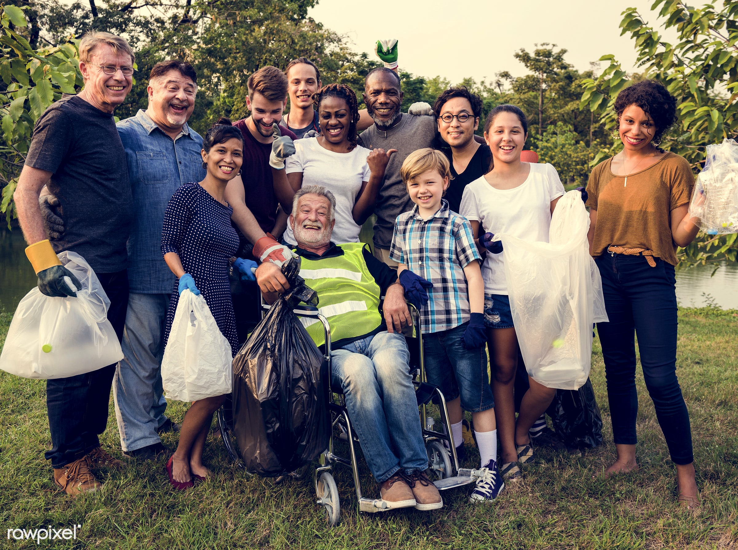 person, diverse, charity, garbage, people, together, kid, friends, nature, family, woman, social, lifestyle, care, voluntary...