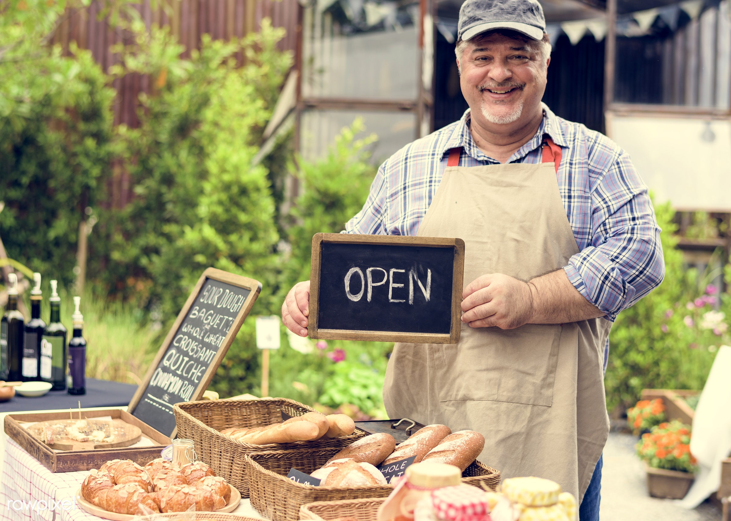 shop, cuisine, small business, holding, variation, patissier, homemade, baked, bread house, open, bakery, dough, jar, bread...