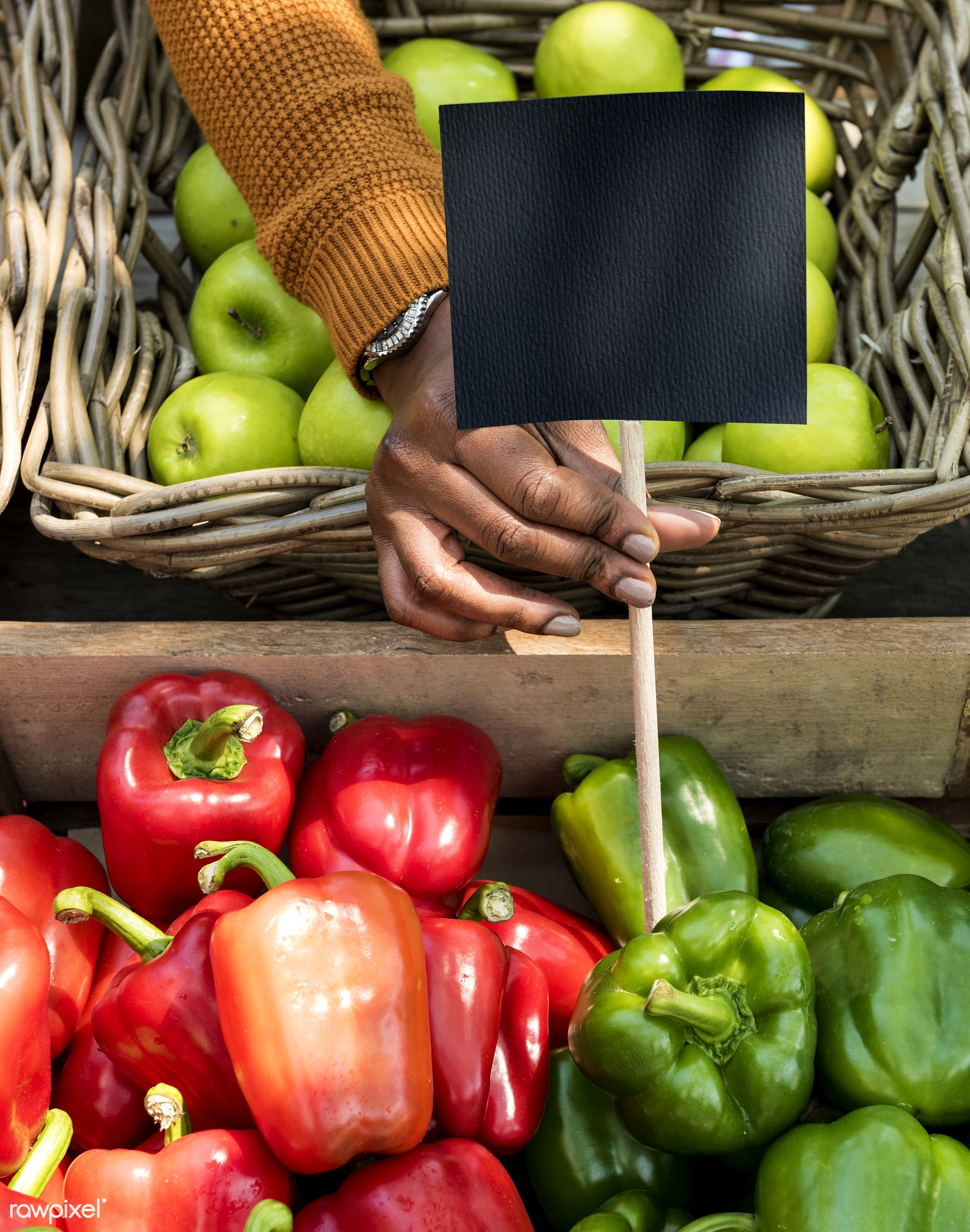 vegetable, agricultural, agriculture, apple, basket, bell pepper, blank, copy space, crate, farmer, fresh, freshness, fruit...