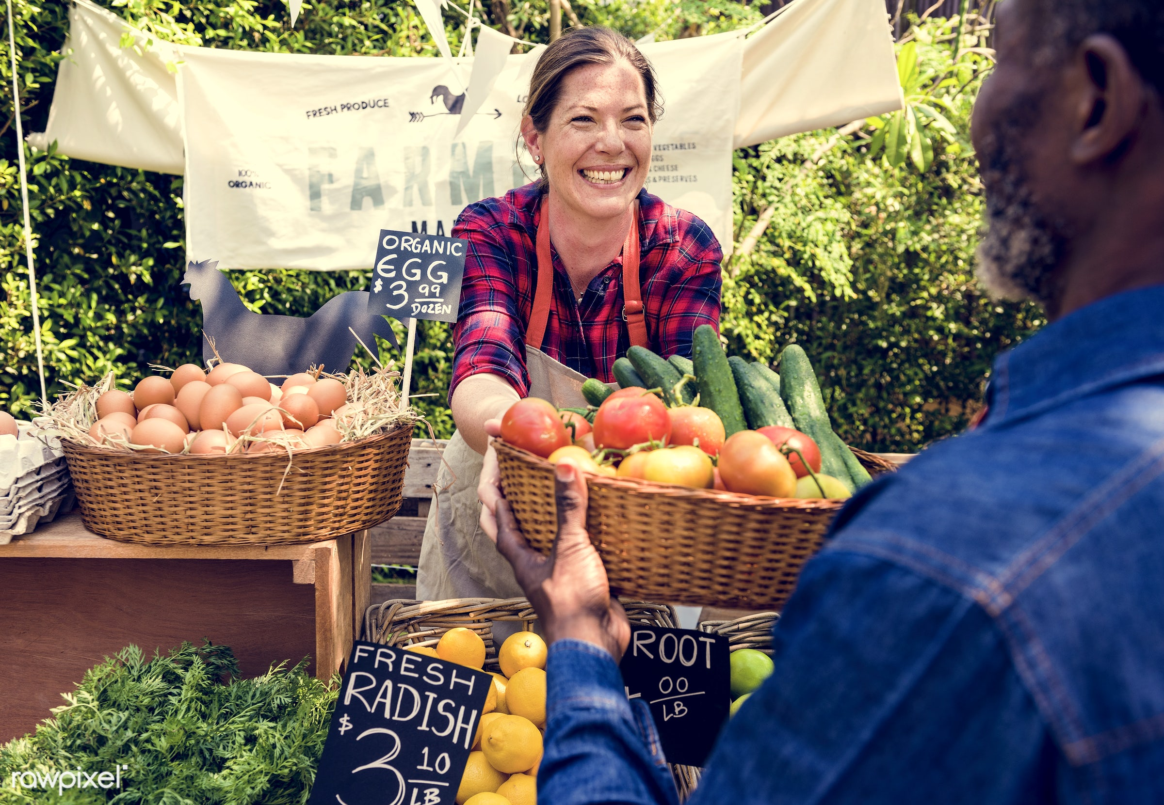 grocery, person, store, stall, customer, people, woman, lifestyle, smiling, fruit, selling, health, nutrition, market,...