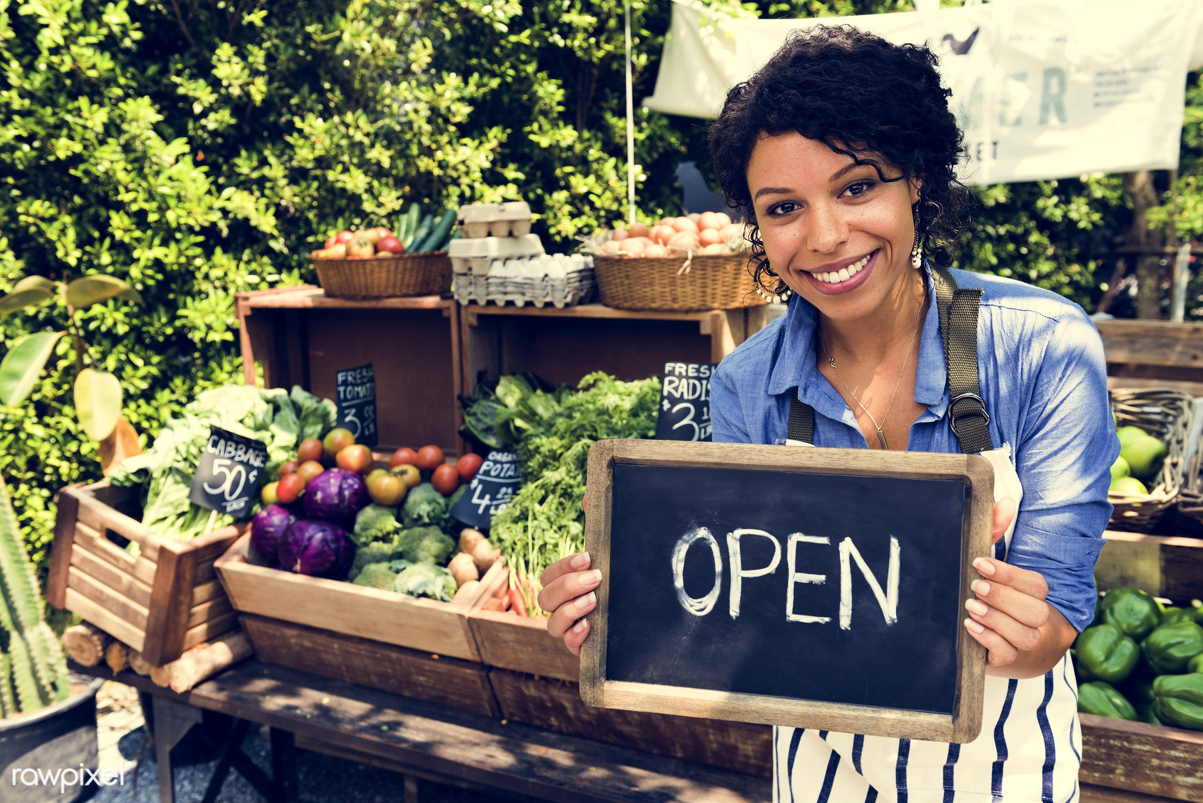 shop, person, stall, people, open, farmer, woman, choosing, choose, consumers, display, sign, nutrition, eggs, market, price...