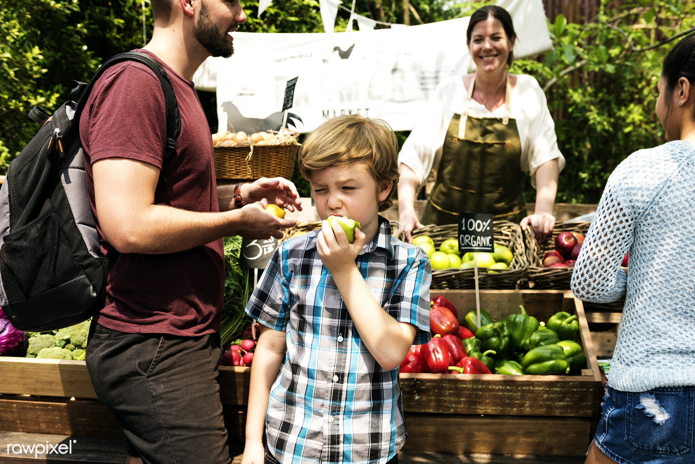 person, stall, little, consumer, taste, people, chew, kid, farmer, lifestyle, action, gourmet, fruit, kids, nutrition, tasty...