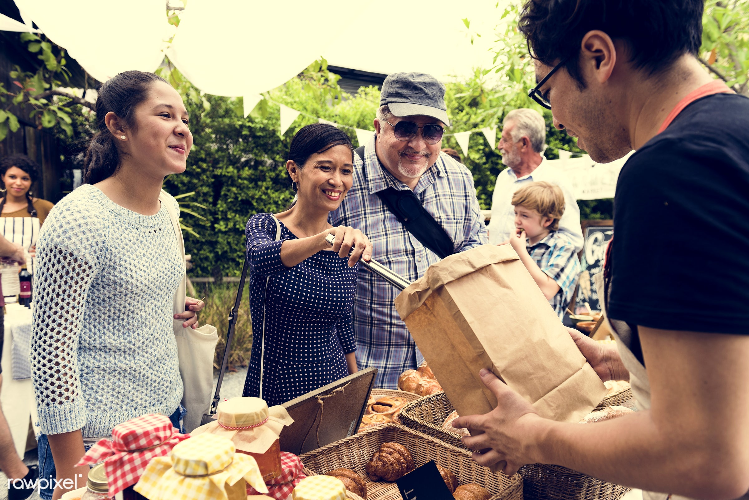 grocery, shop, using, person, stall, cuisine, pastries, consumer, customer, homemade, people, bakery, bread, woman,...