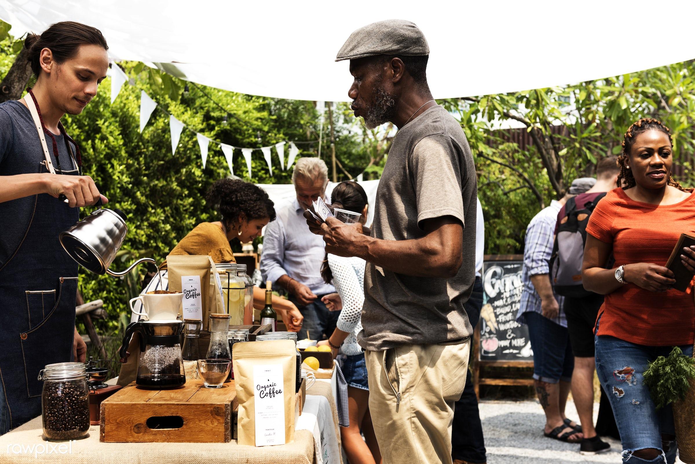 shop, person, aroma, caffeine, people, pot, farmer, brew, woman, lifestyle, blend, drink, refresh, preparation, coffee,...