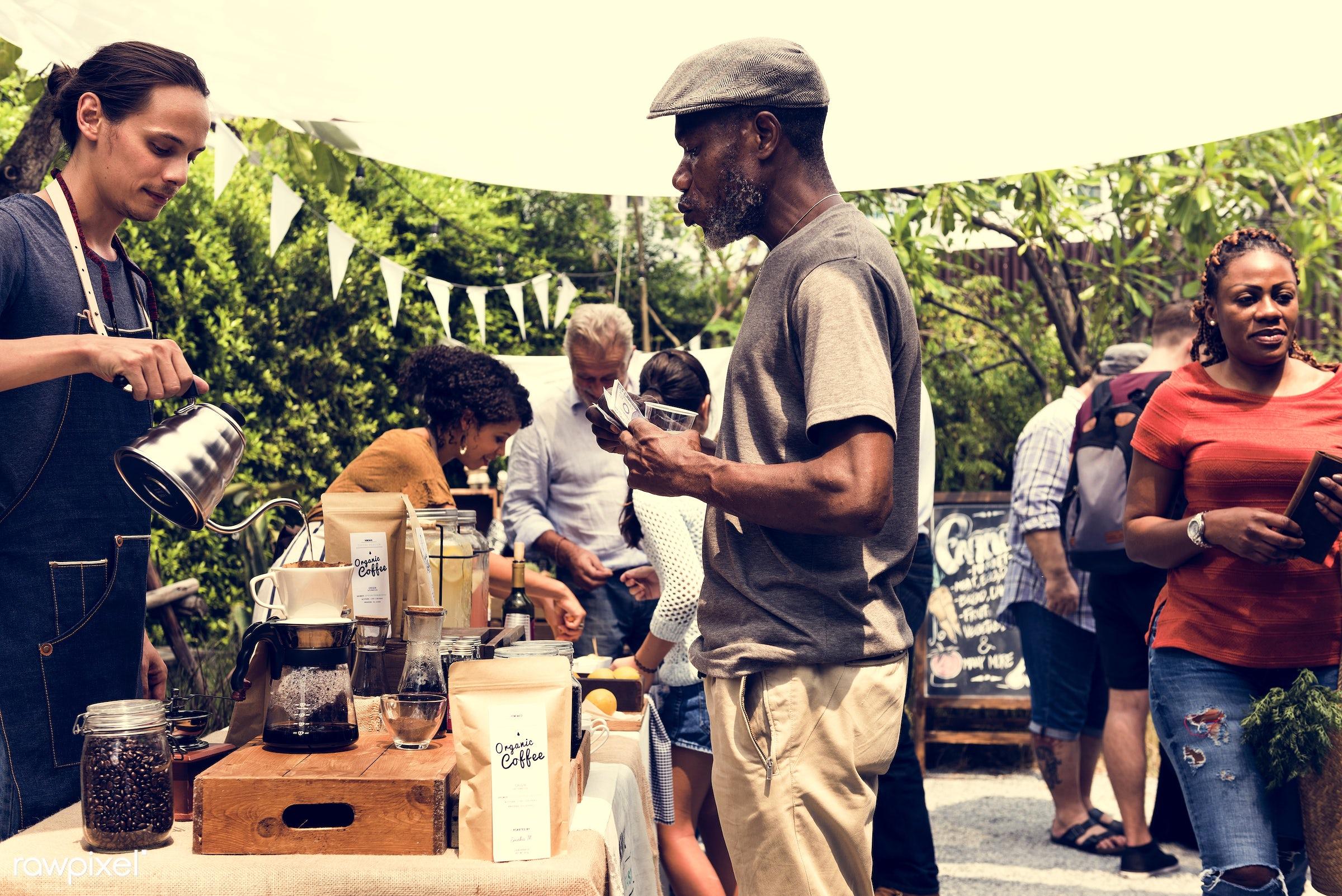 shop, person, aroma, caffeine, people, pot, farmer, brew, woman, lifestyle, drink, blend, refresh, preparation, coffee,...