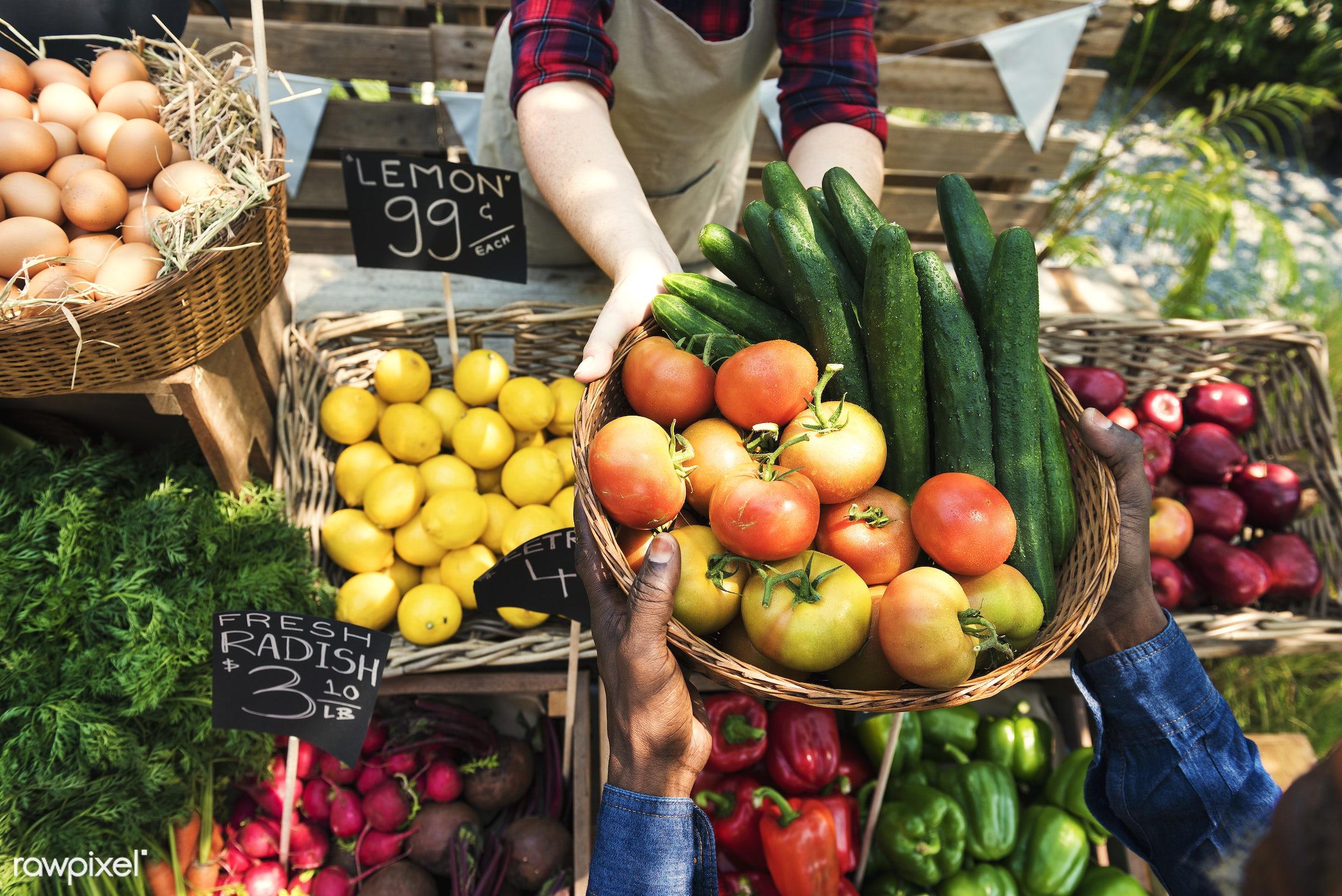 shop, person, stall, buy, people, farmer, woman, choosing, choose, consumers, display, nutrition, market, eggs, price, food...