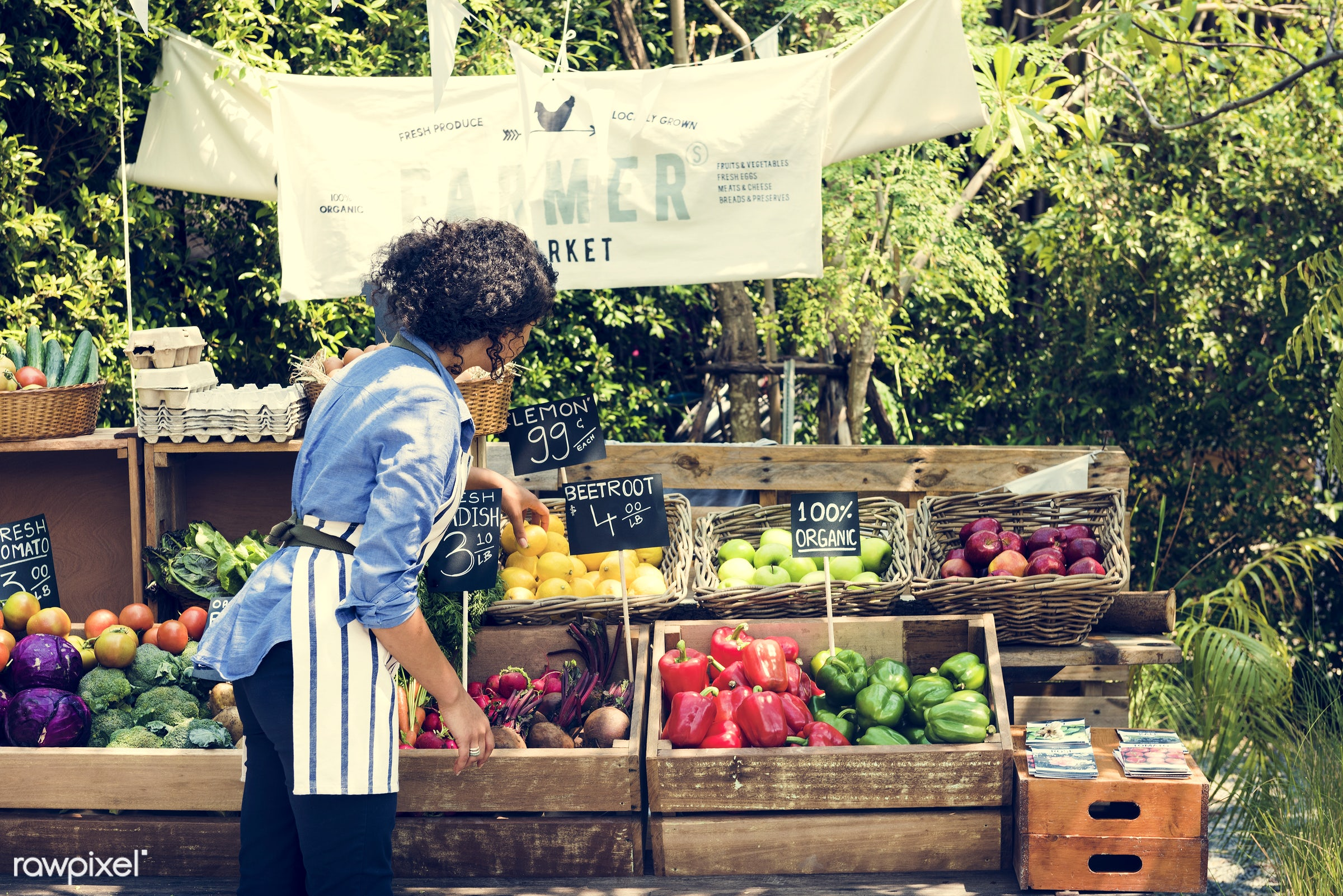 shop, person, stall, consumer, people, farmer, woman, choosing, choose, display, tomatoes, sign, nutrition, price, market,...