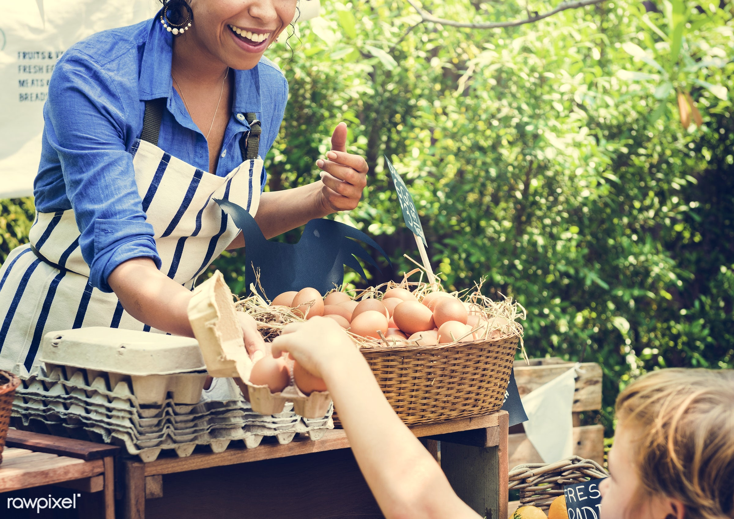 grocery, shop, nutritious, store, egg, farmer, fresh, woman, healthy eating, marketplace, cheerful, smiling, fruit, selling...