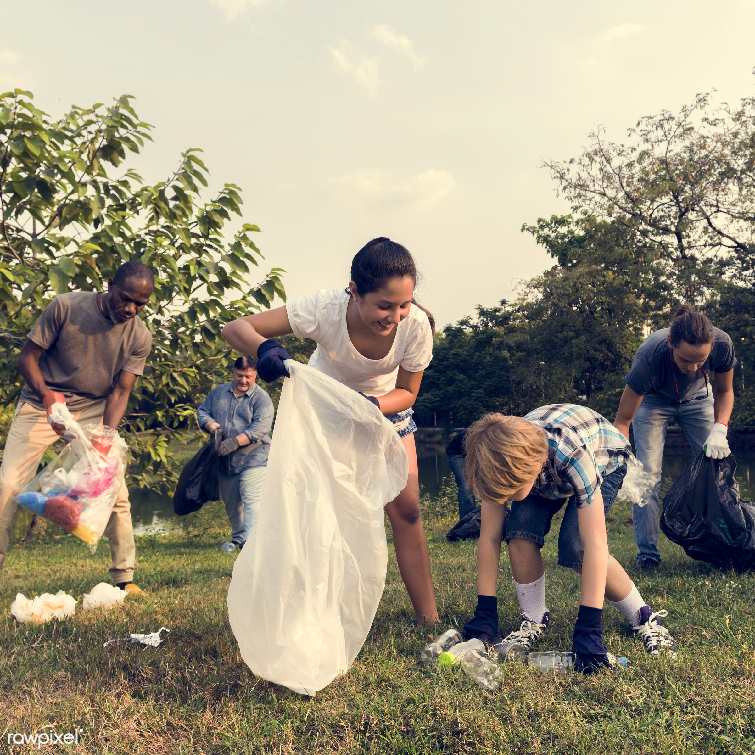 person, plastic, save, community service, garbage, people, together, kid, help, nature, woman, friendship, bottles, go green...