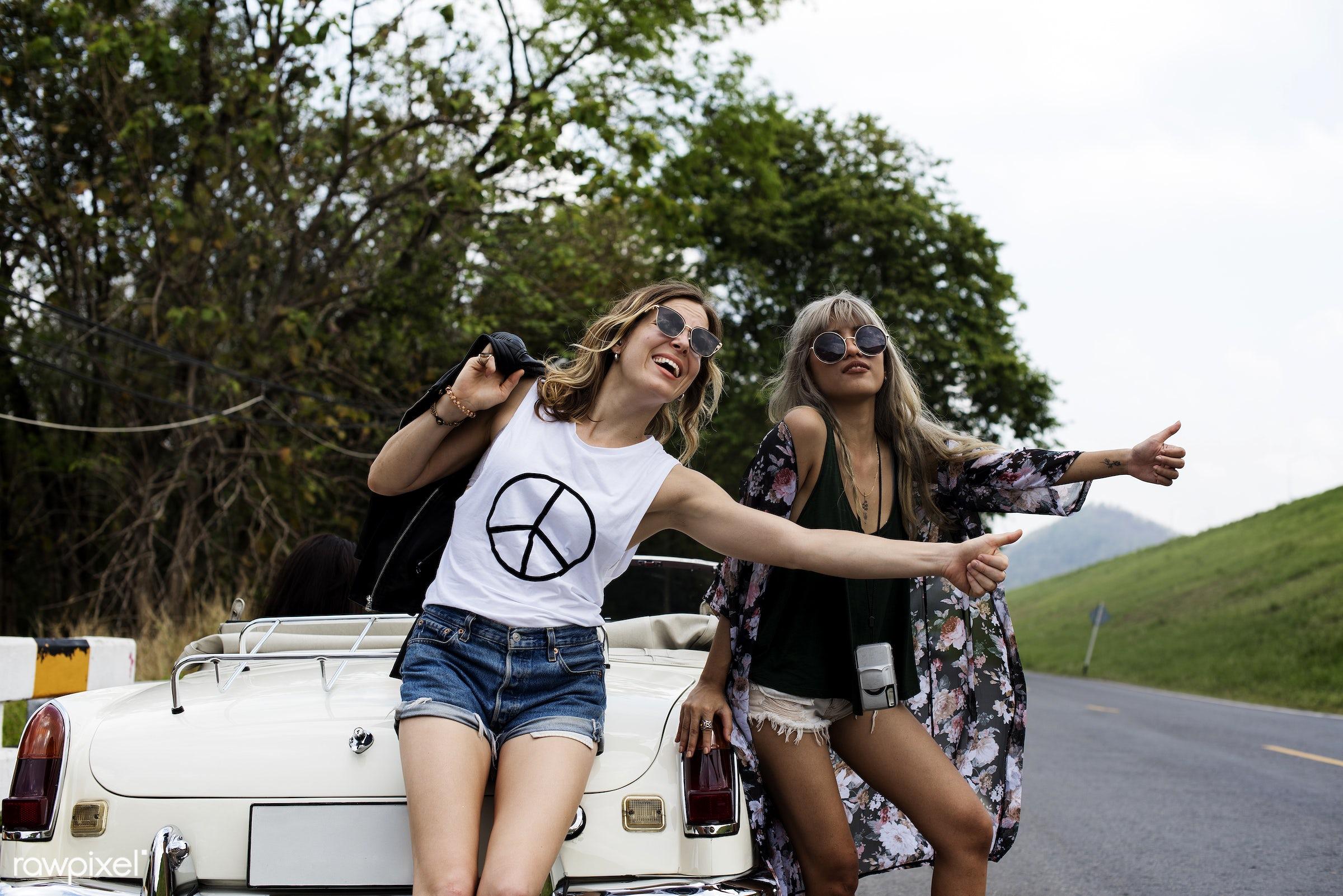 adult, broke, car, comrade, confidant, confidante, diversity, down, friends, friendship, fun, hangout, hills, hitchhike,...