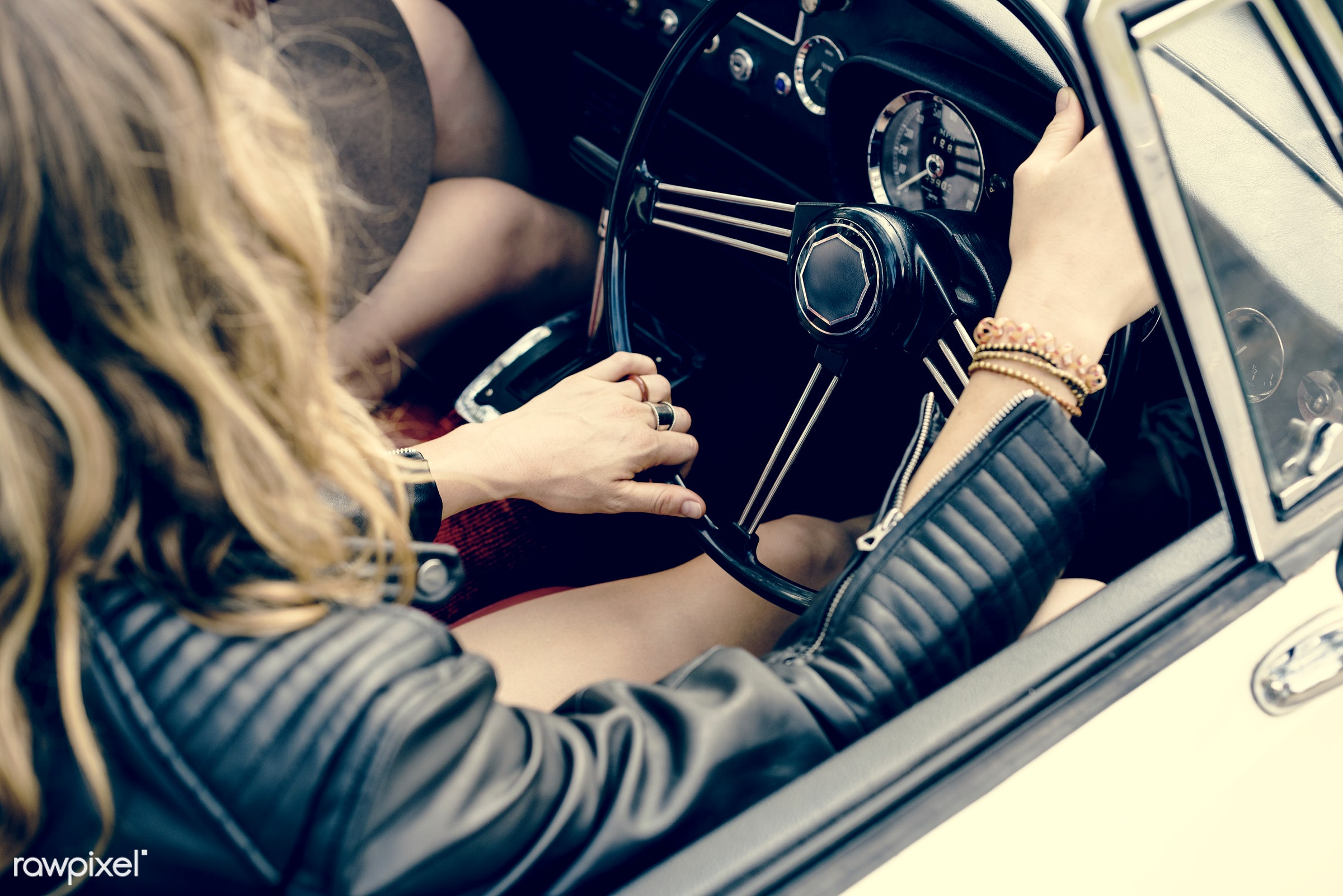 adult, adventure, attractive, automobile, beauty, car, classic, down, drive, driving, female, hippy, hipster, journey,...