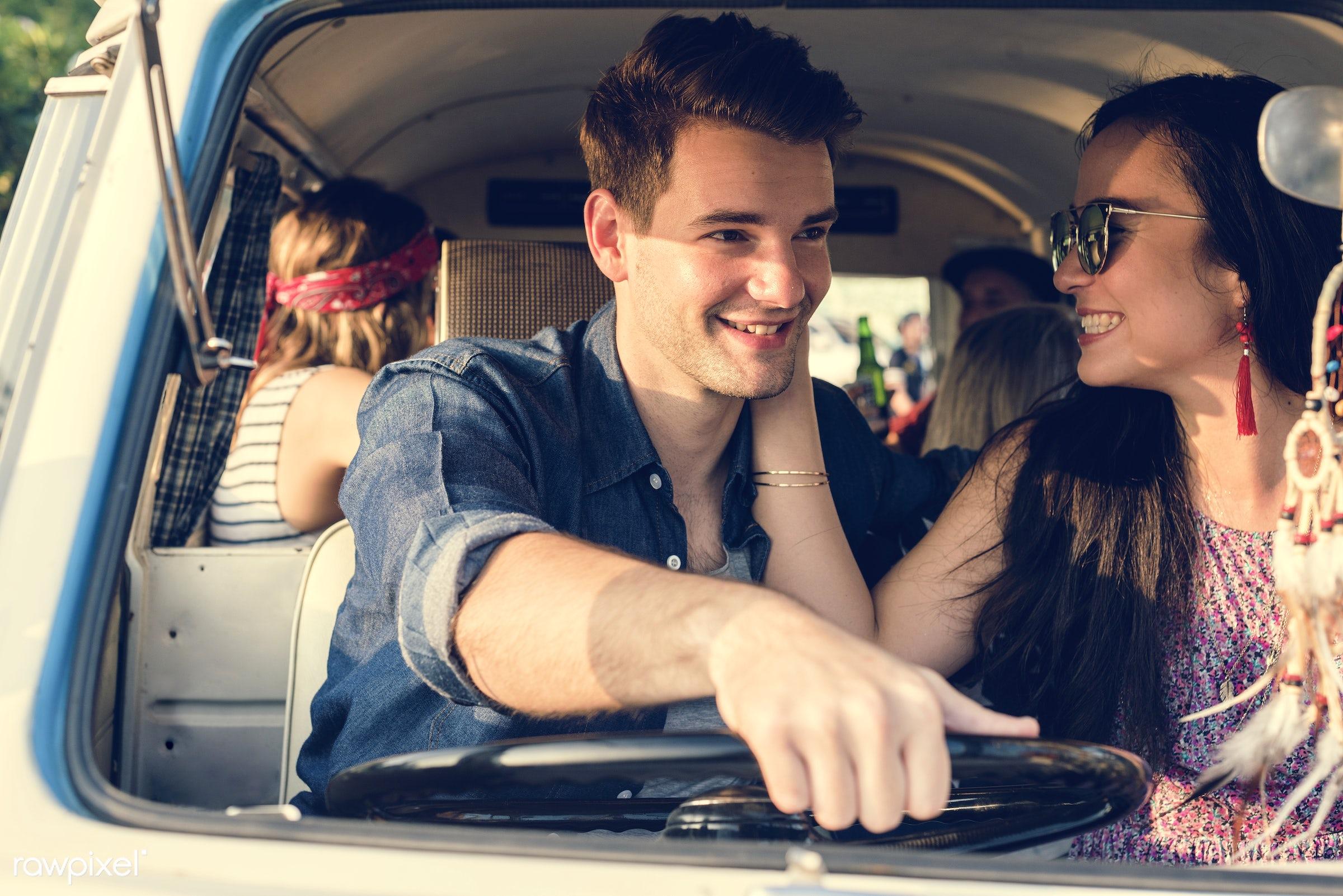 adult, adventure, attractive, car, couple, drive, driving, happiness, happy, journey, joyful, leisure, life, lifestyle, love...