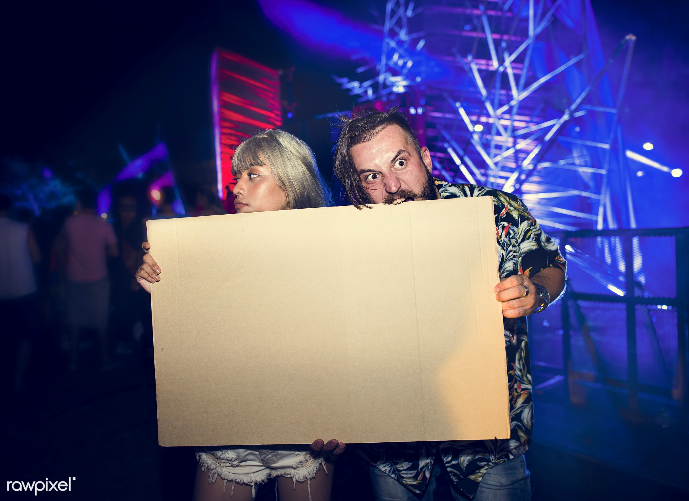 concert, person, holding, show, party, people, together, placard, friends, woman, event, lifestyle, empty, friendship,...