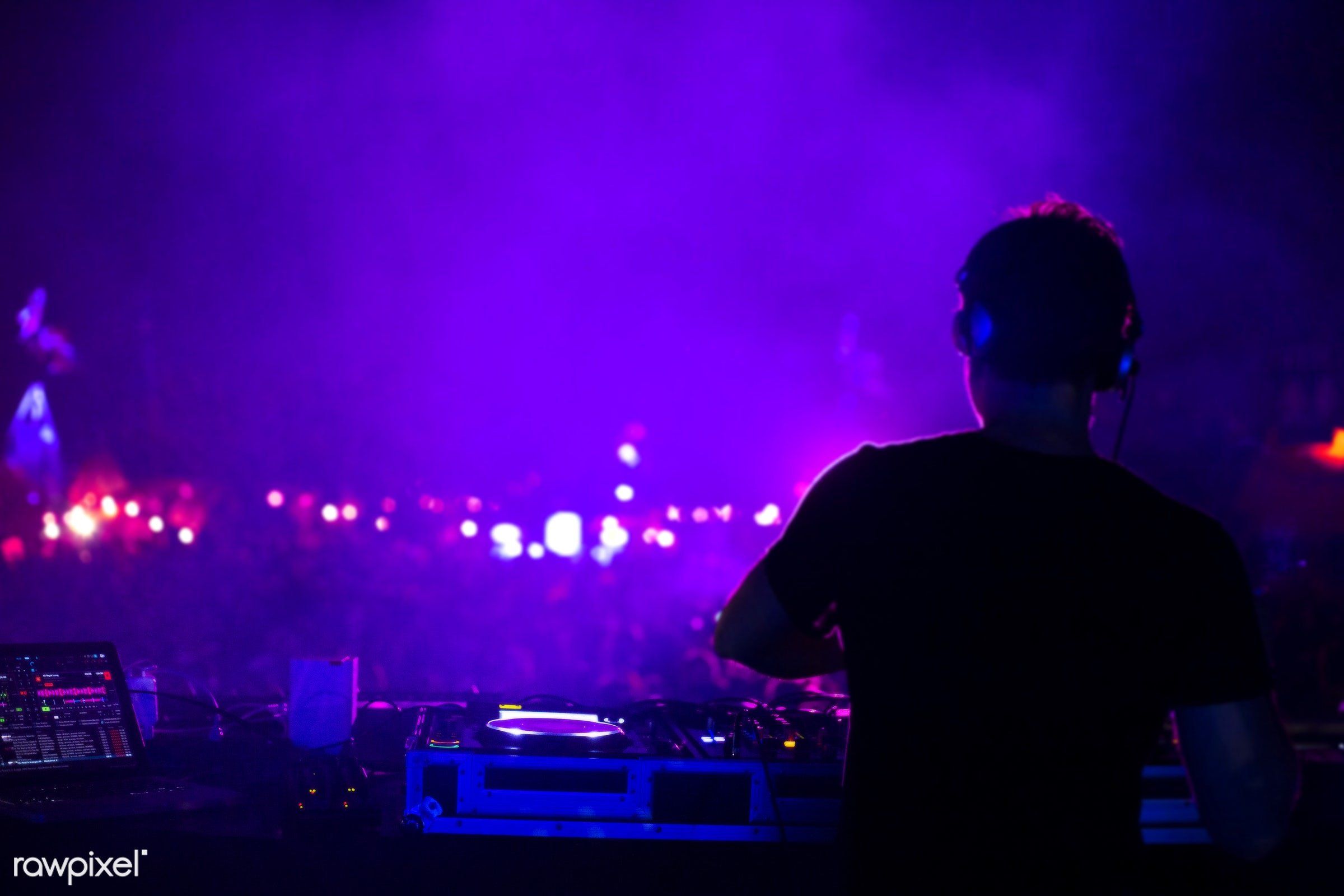 excitement, illuminated, concert, edm, perform, show, party, people, production, stage, techno, performance, mixing, event,...