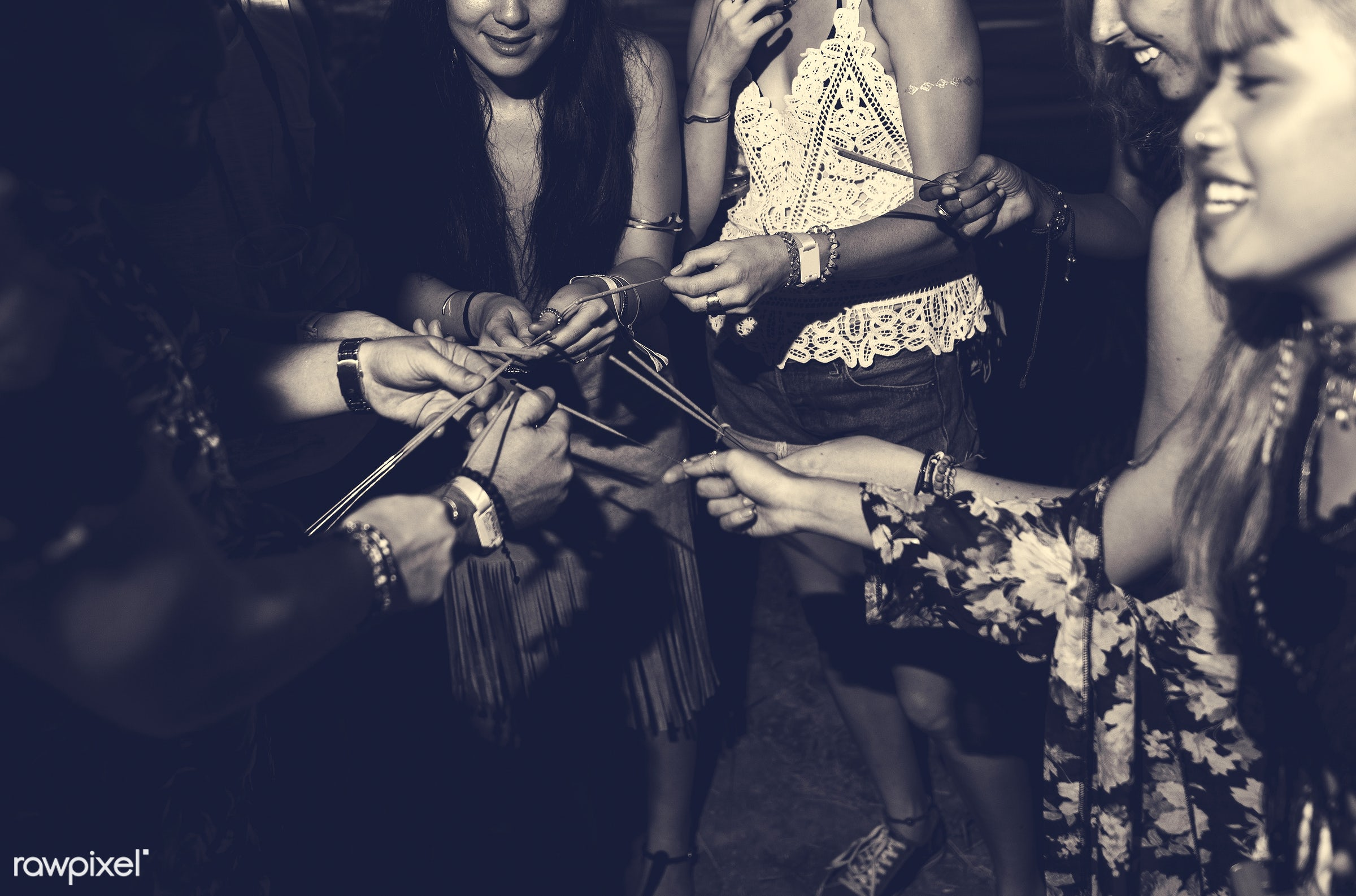 concert, person, relax, carefree, party, people, together, friends, sparkler, socializing, hands, woman, event, lifestyle,...