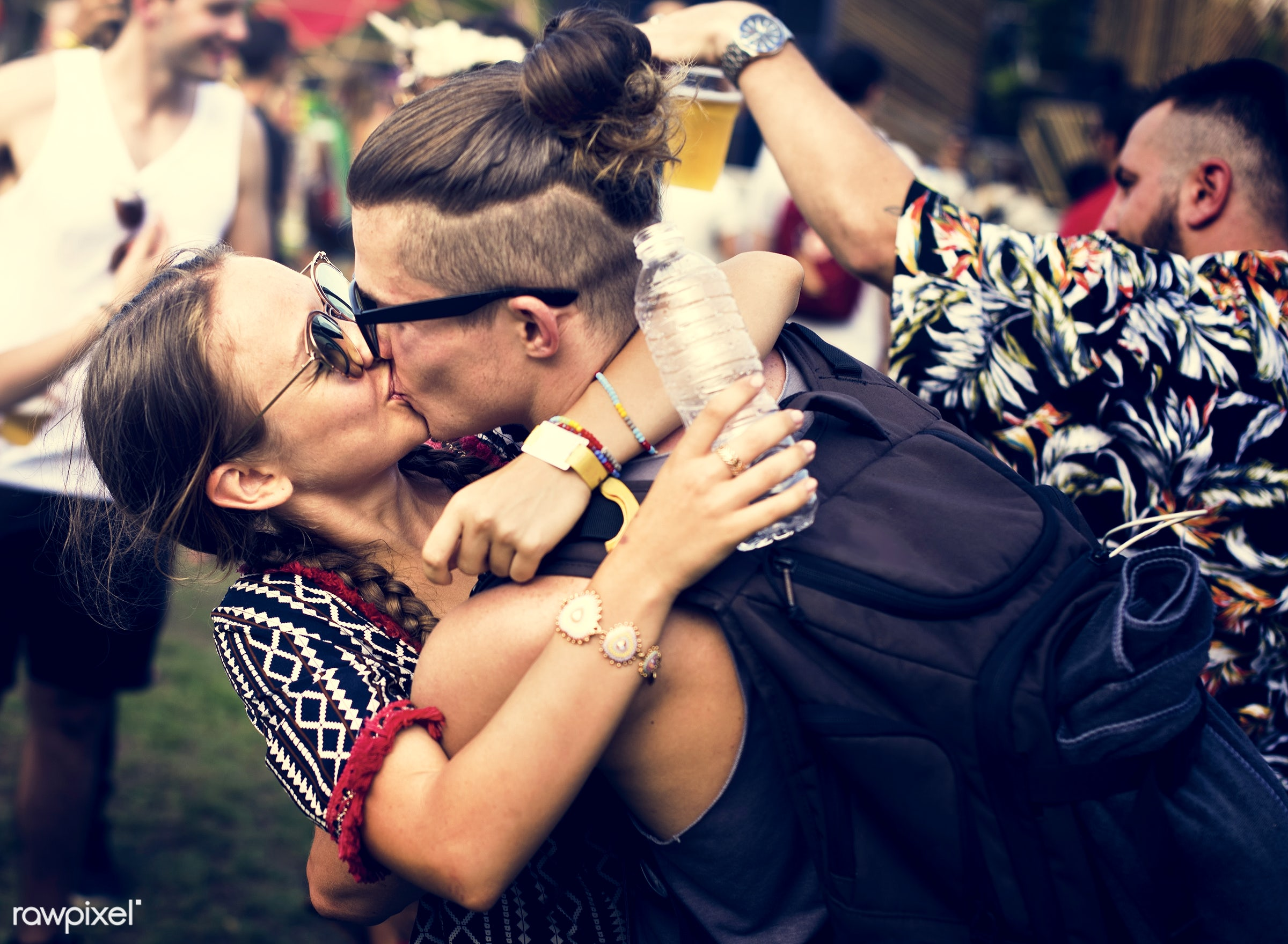 concert, person, hug, party, people, love, kiss, event, woman, lifestyle, weekend, lover, kissing, leisure, happiness, fun,...