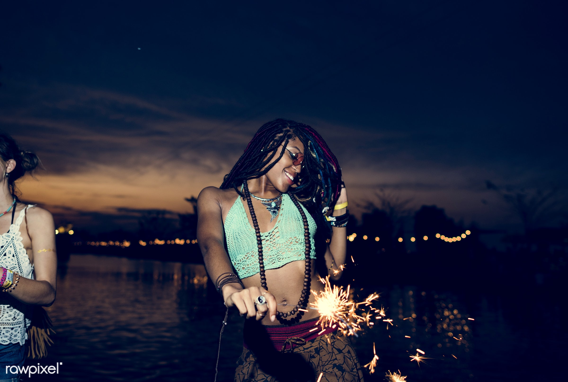 concert, person, relax, carefree, party, people, together, friends, sparkler, socializing, hands, event, lifestyle, weekend...