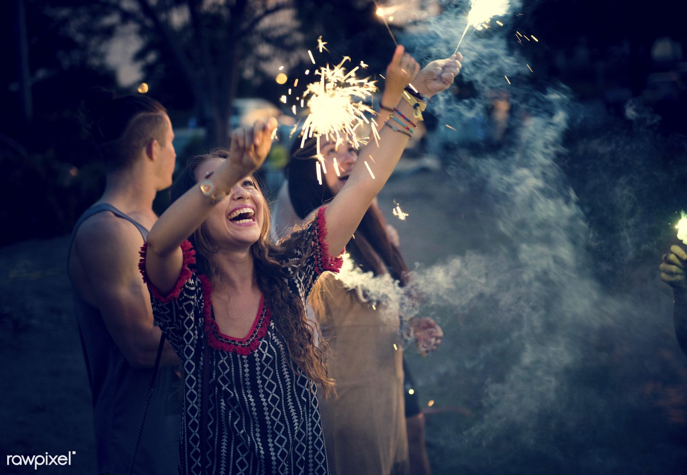 sparkler, activity, adults, carefree, concert, crowd, diversity, enjoying, enjoyment, entertainment, event, festival,...