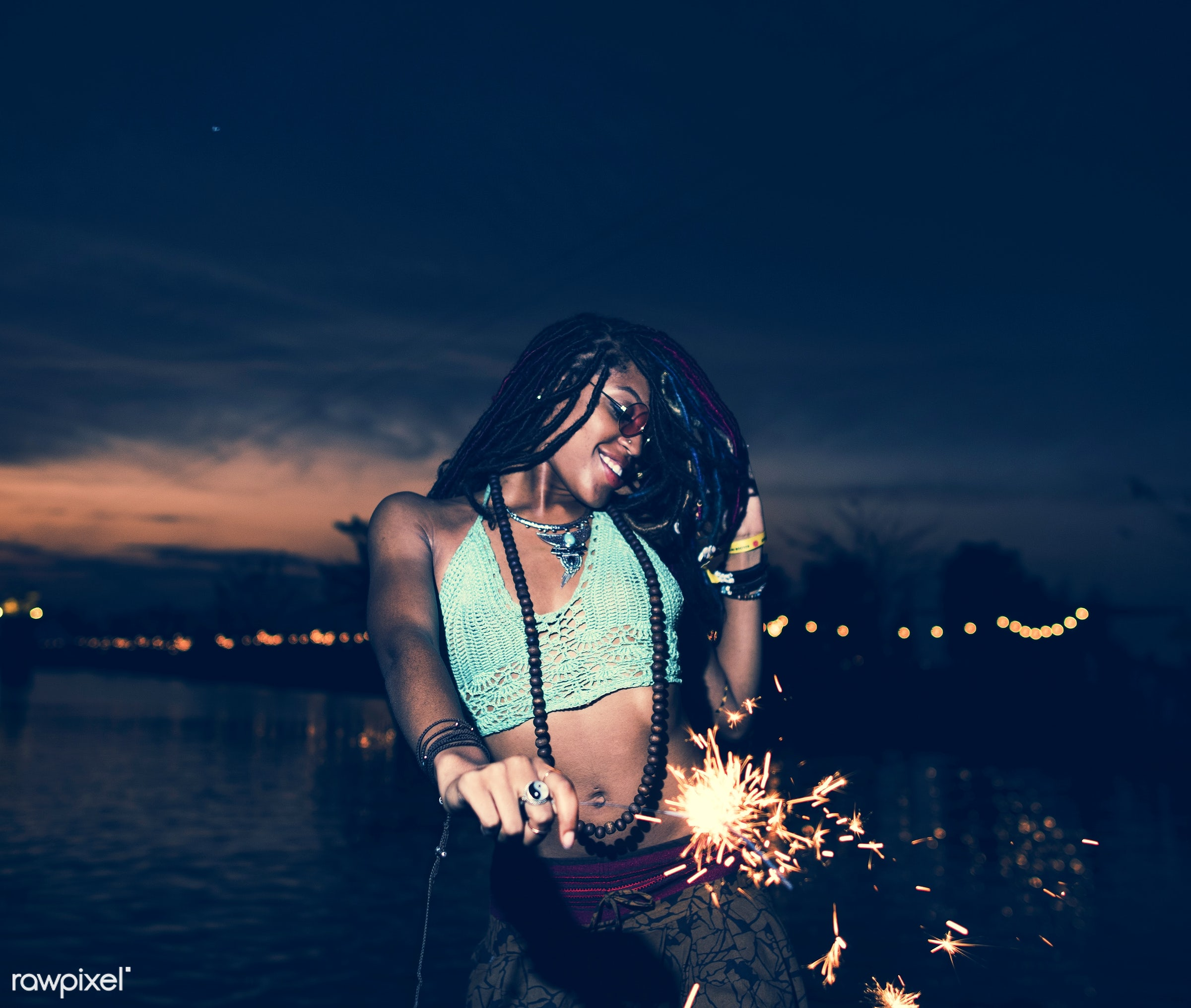 concert, person, relax, carefree, party, people, together, sparkler, friends, socializing, hands, woman, event, lifestyle,...
