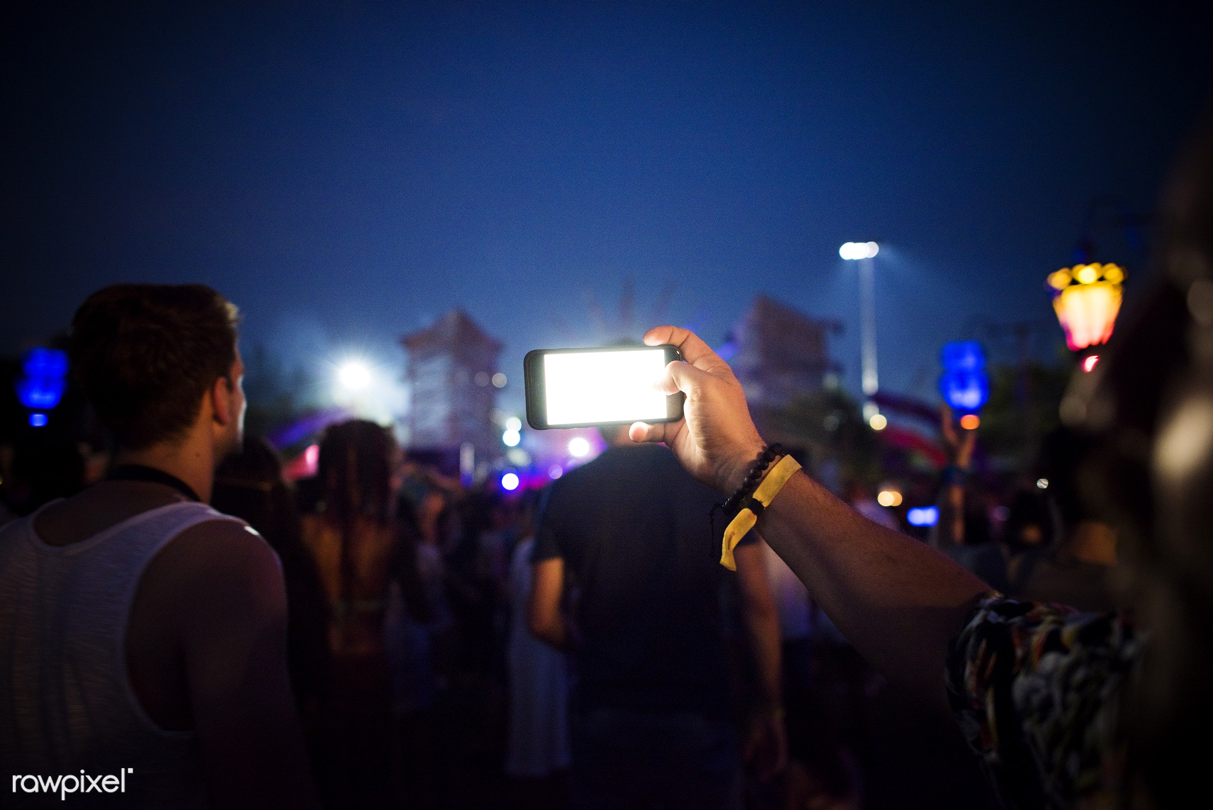 concert, phone, snap, carefree, party, shot, people, together, socializing, event, mobile phone, capture, weekend, festival...