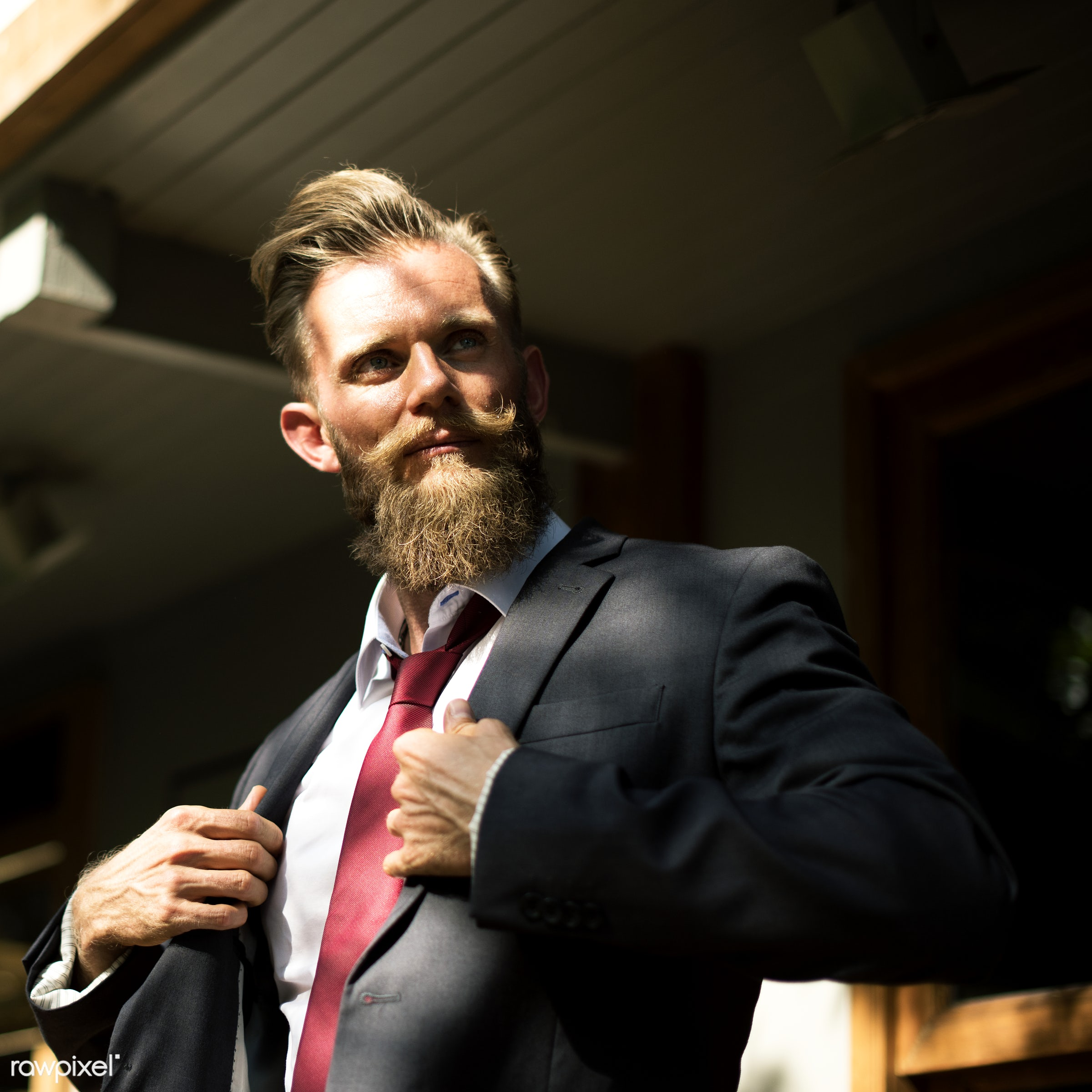 Confident businessman - cc0, beard, boldness, business, confidence, corporate, courage, creative common 0, creative commons...