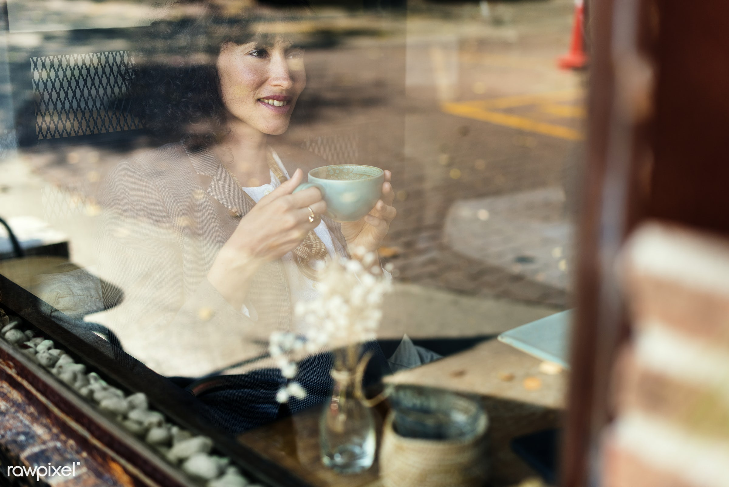 coffee, restaurant, woman, beverage, break, cafe, cc0, creative common 0, creative commons 0, cup, drinks, leisure, pastime...
