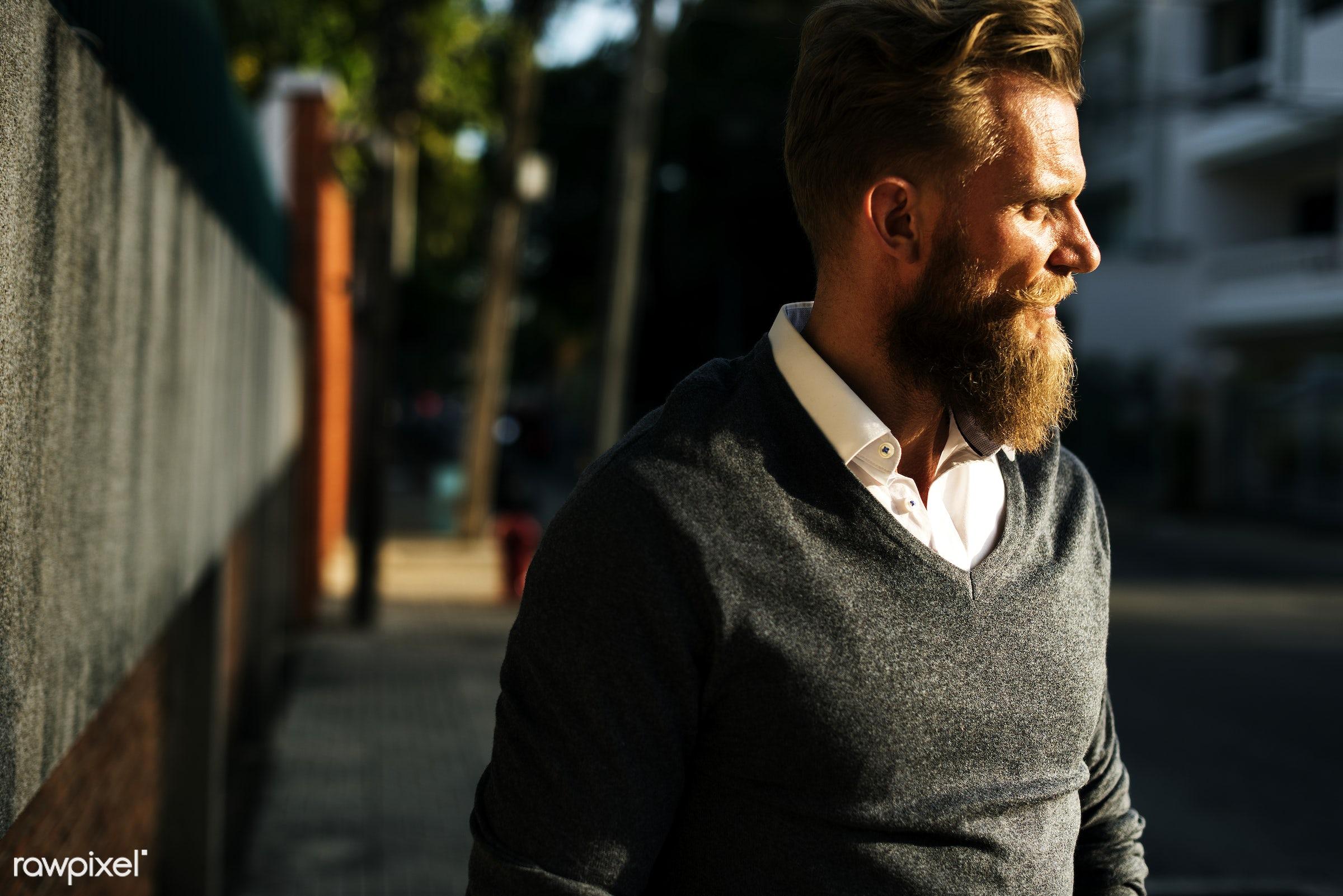 cc0, alone, beard, city, commuter, creative common 0, creative commons 0, footpath, man, pedestrian, person, sidewalk,...