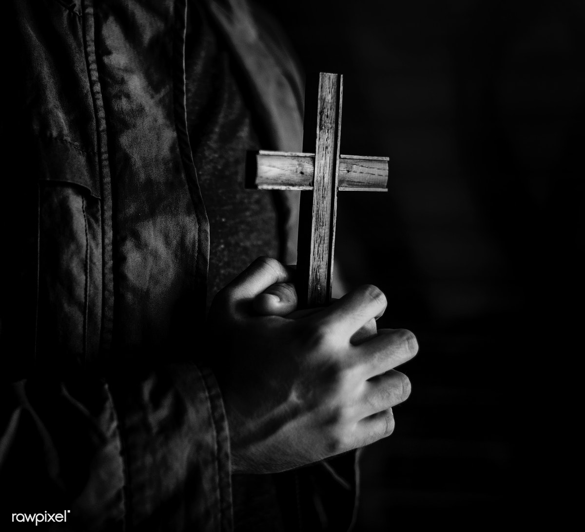 db838dd35 Woman Hands Holding Cross Praying for God   Royalty free stock photo ...