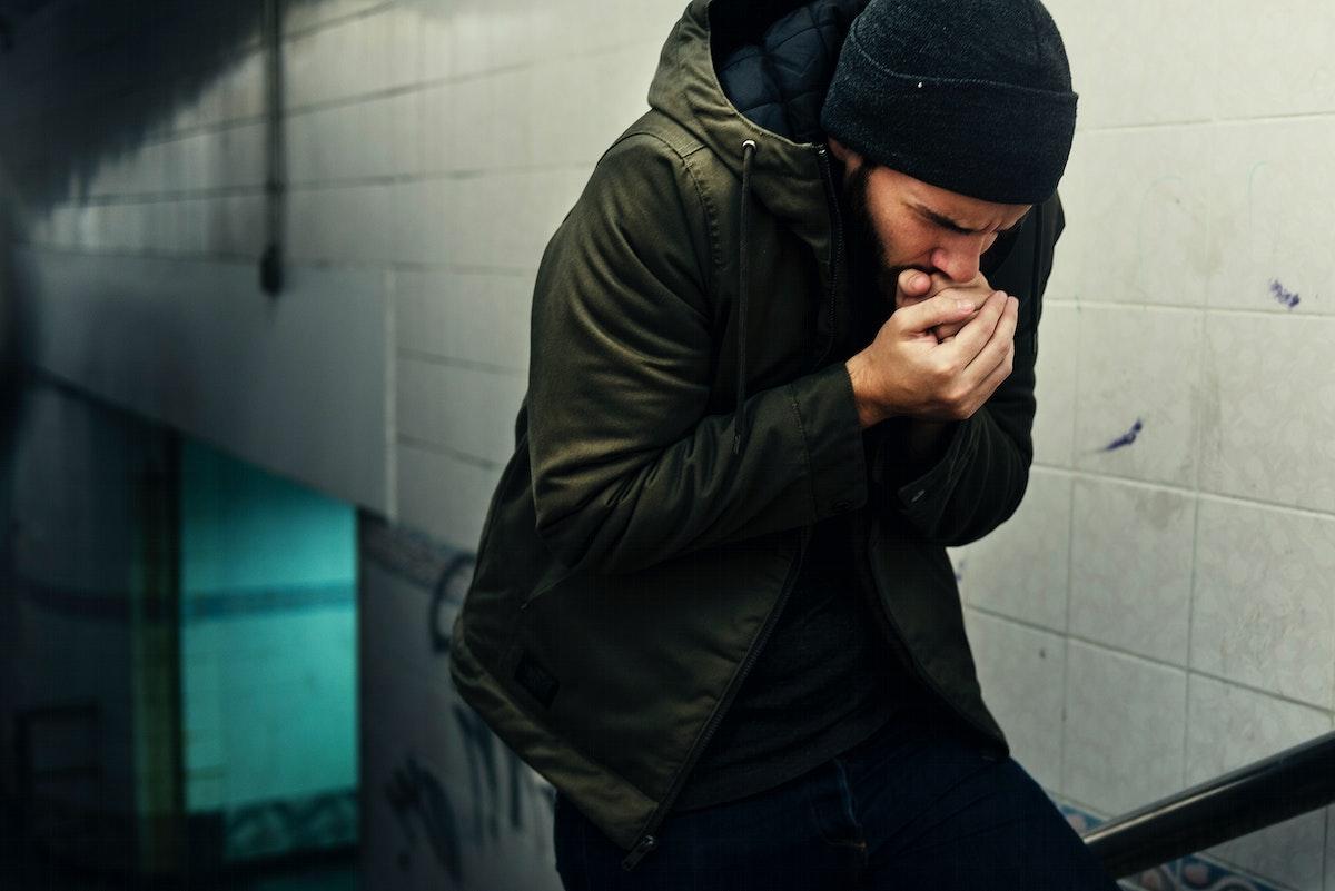 Homeless Feeling Cold in Winter