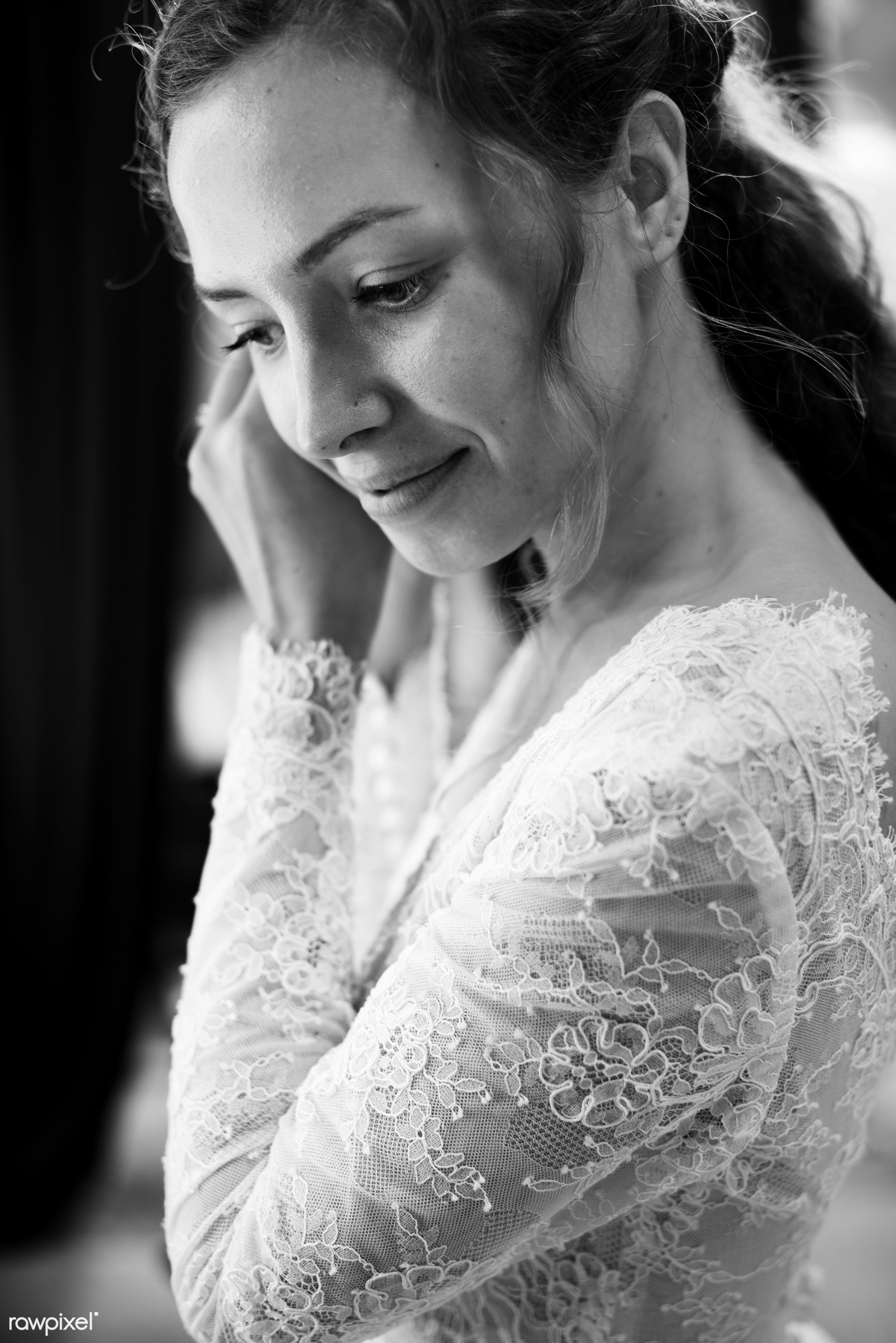 person, occasion, white dress, people, caucasian, glamour, love, gorgeous, happy, woman, attractive, feminine, gown, bride,...