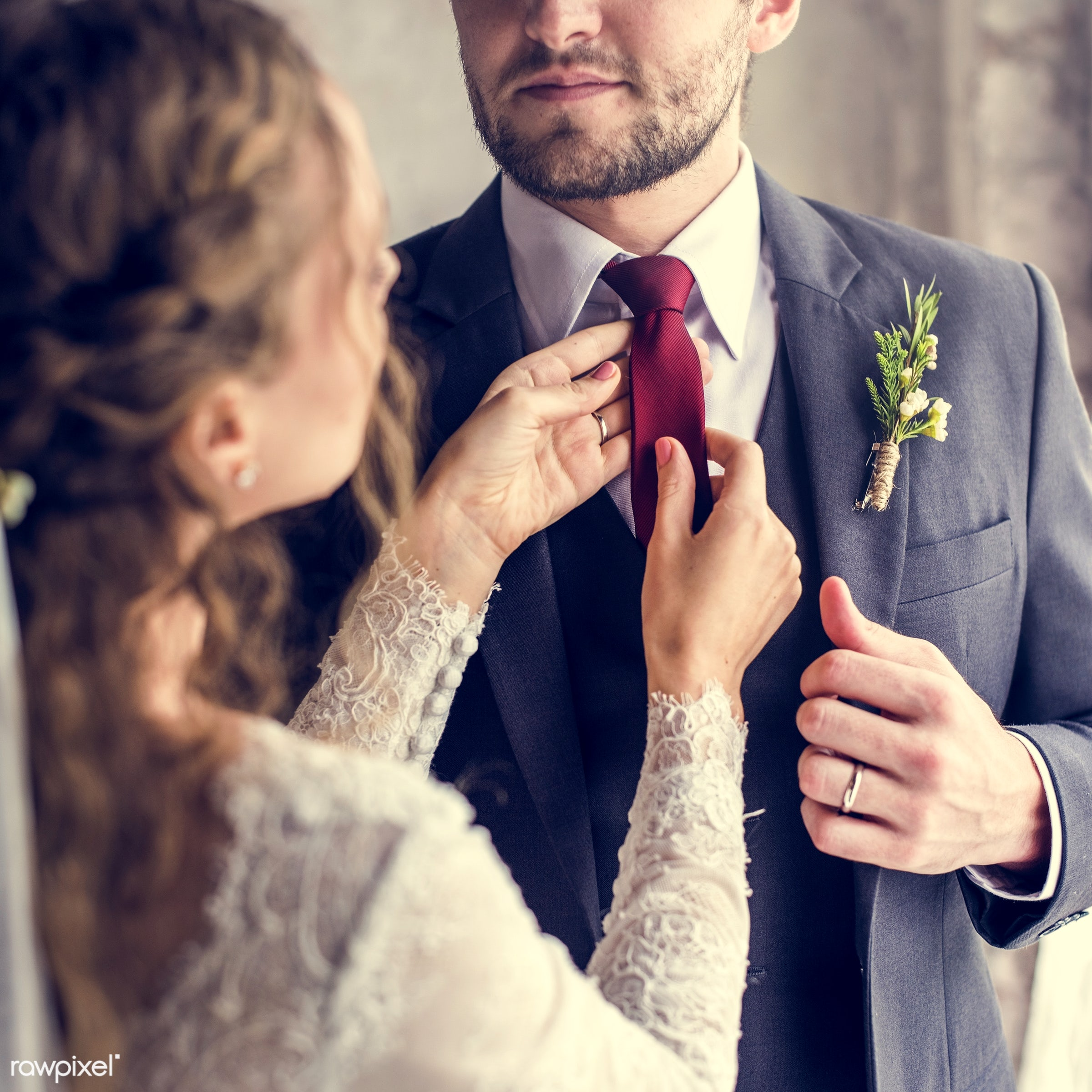 person, tie, bonding, husband, people, love, woman, event, care, couple, soulmate, bride, cheerful, smiling, man, marry,...