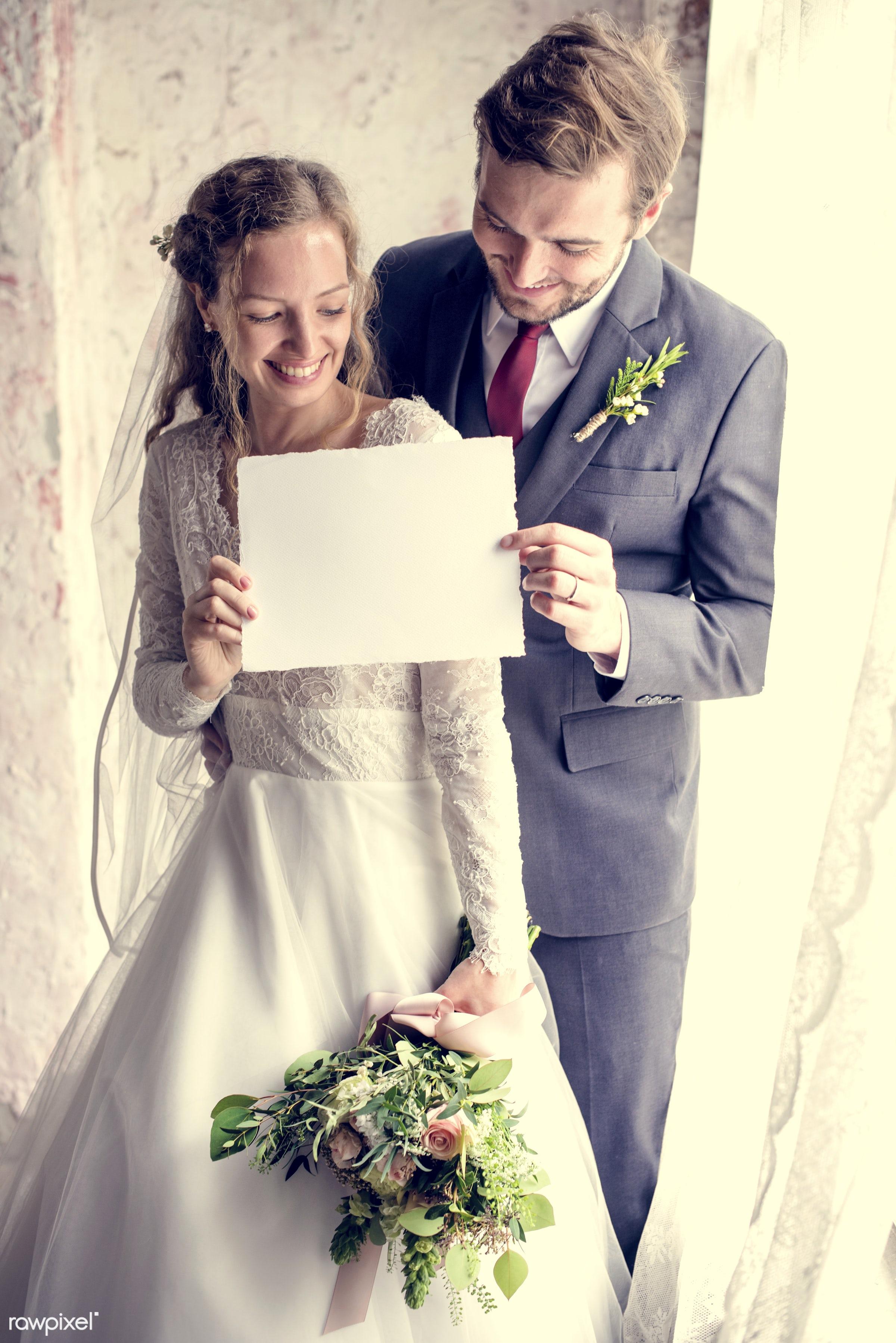 bouquet, person, copy space, holding, bonding, husband, people, placard, love, woman, event, care, couple, soulmate, bride,...