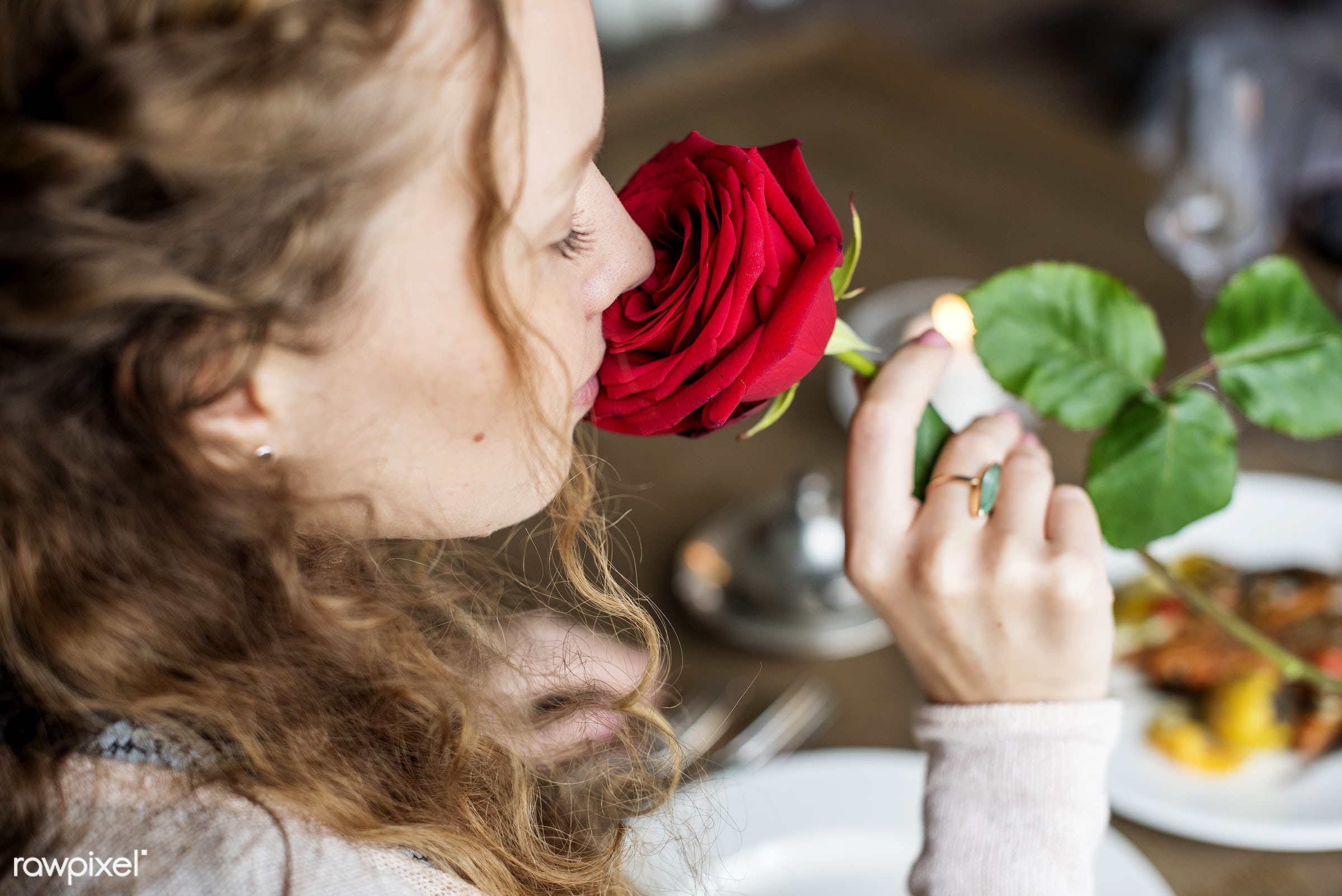calm, smell, holding, smelling, pretty, girl, fresh, woman, refresh, flower, peaceful, refreshment, rose, female, peace,...