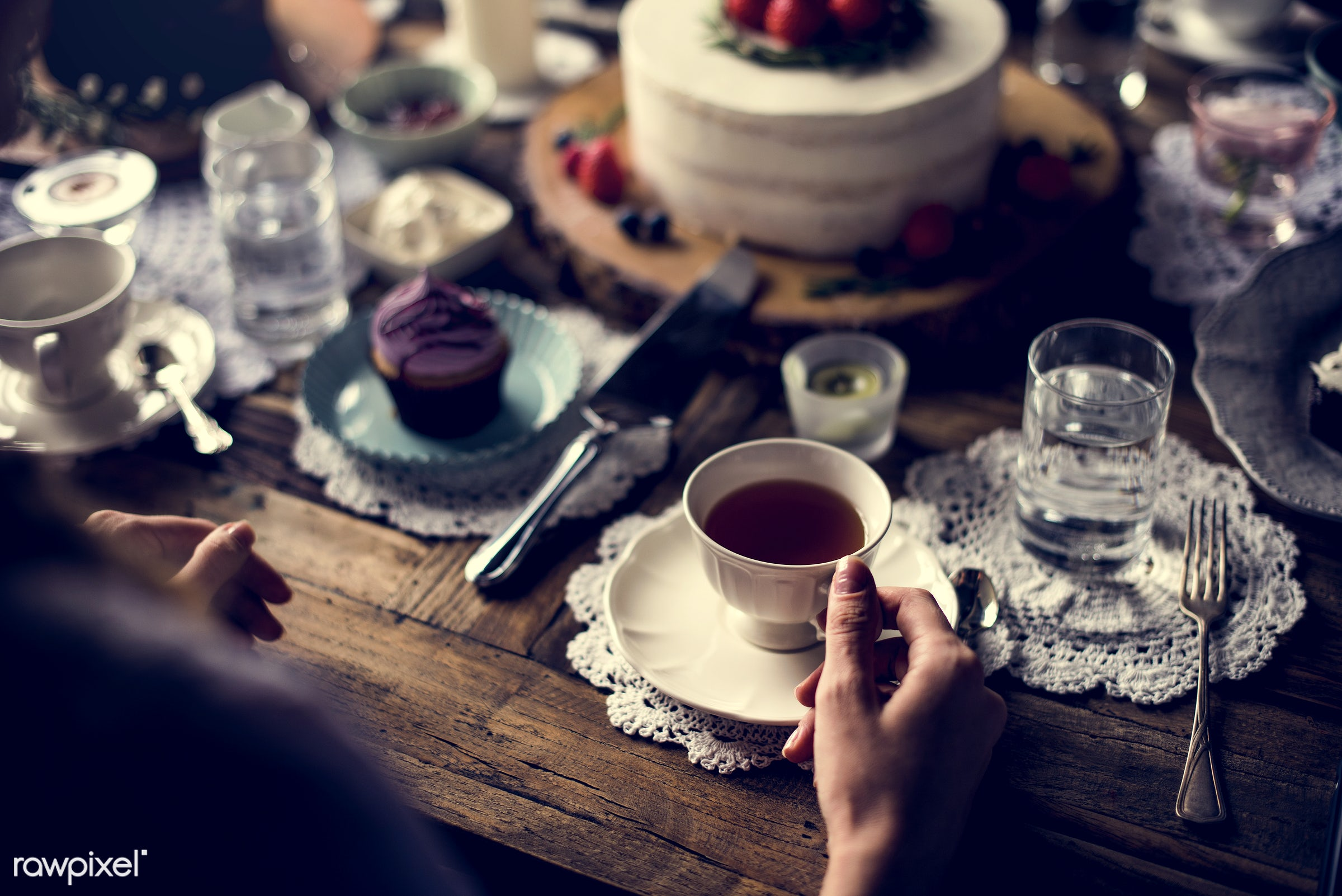 cake, dish, person, recipe, party, tea, people, together, tea party, friends, bakery, frosting, gather, event, woman,...