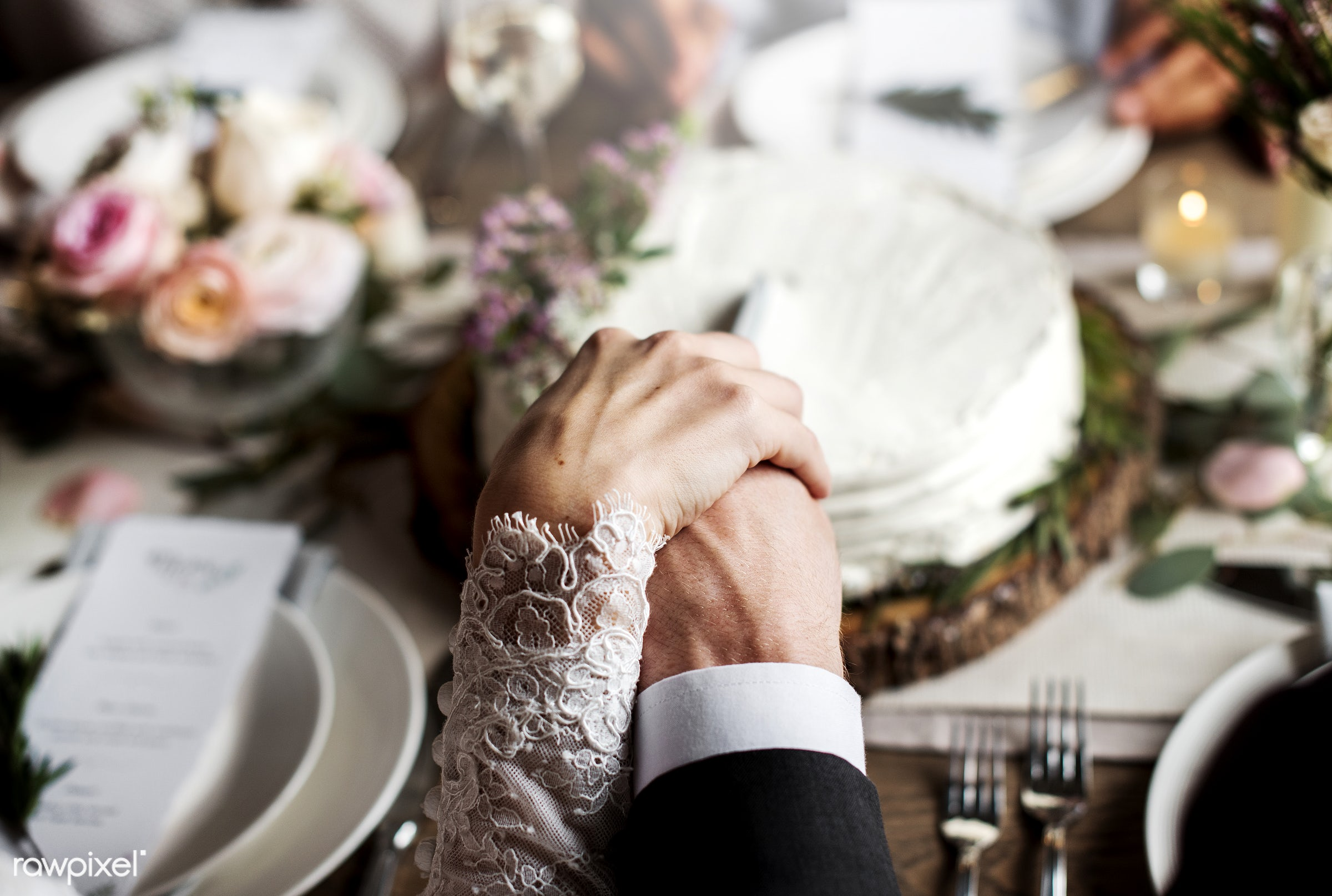 person, bonding, holding hand, husband, people, love, sharing, hands, woman, event, couple, soulmate, bride, knife, man,...