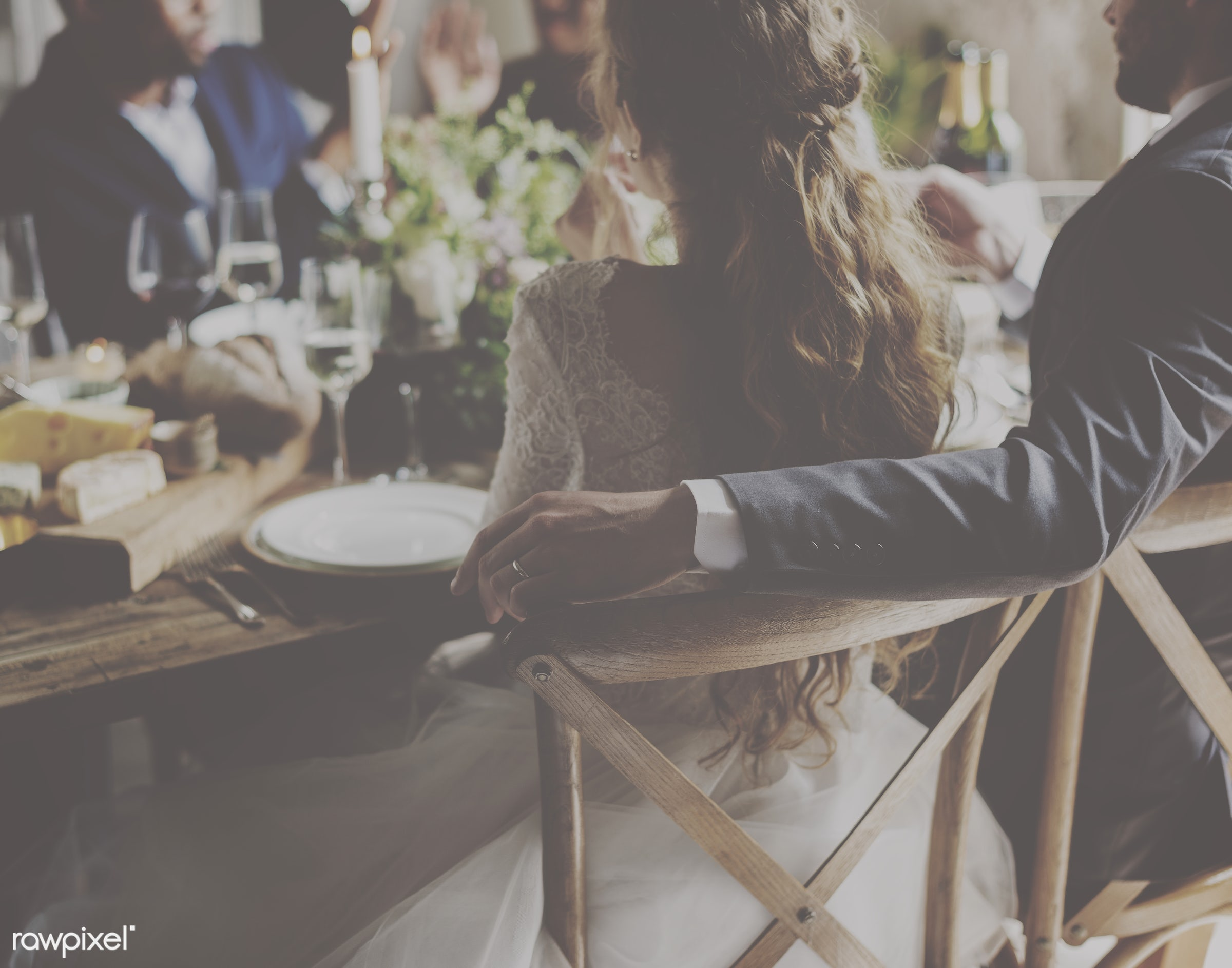 person, occasion, people, together, love, married, friends, hands, event, woman, gather, couple, men, bride, celebrate, man...