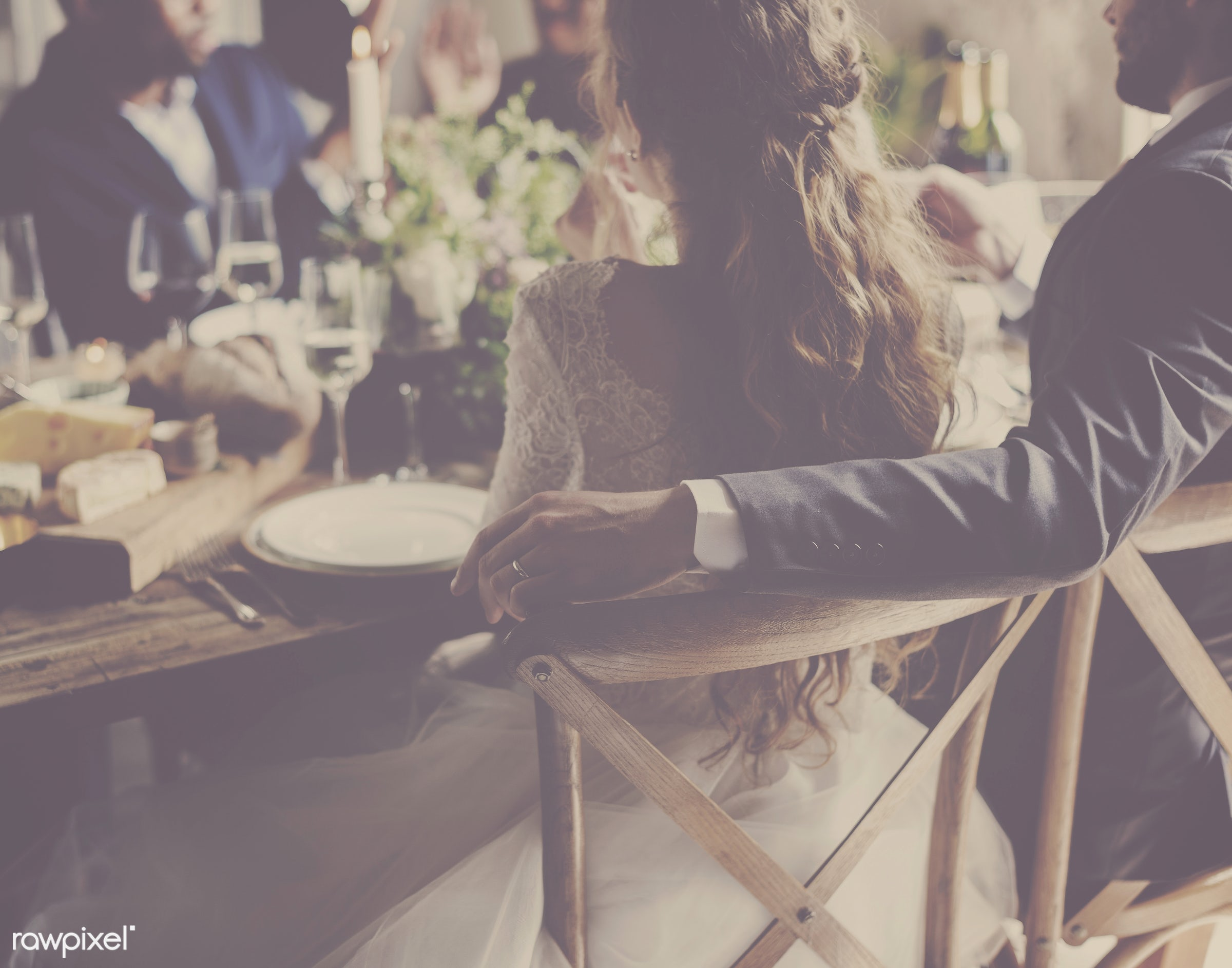 person, occasion, people, together, love, friends, married, hands, woman, event, gather, couple, men, bride, celebrate, man...
