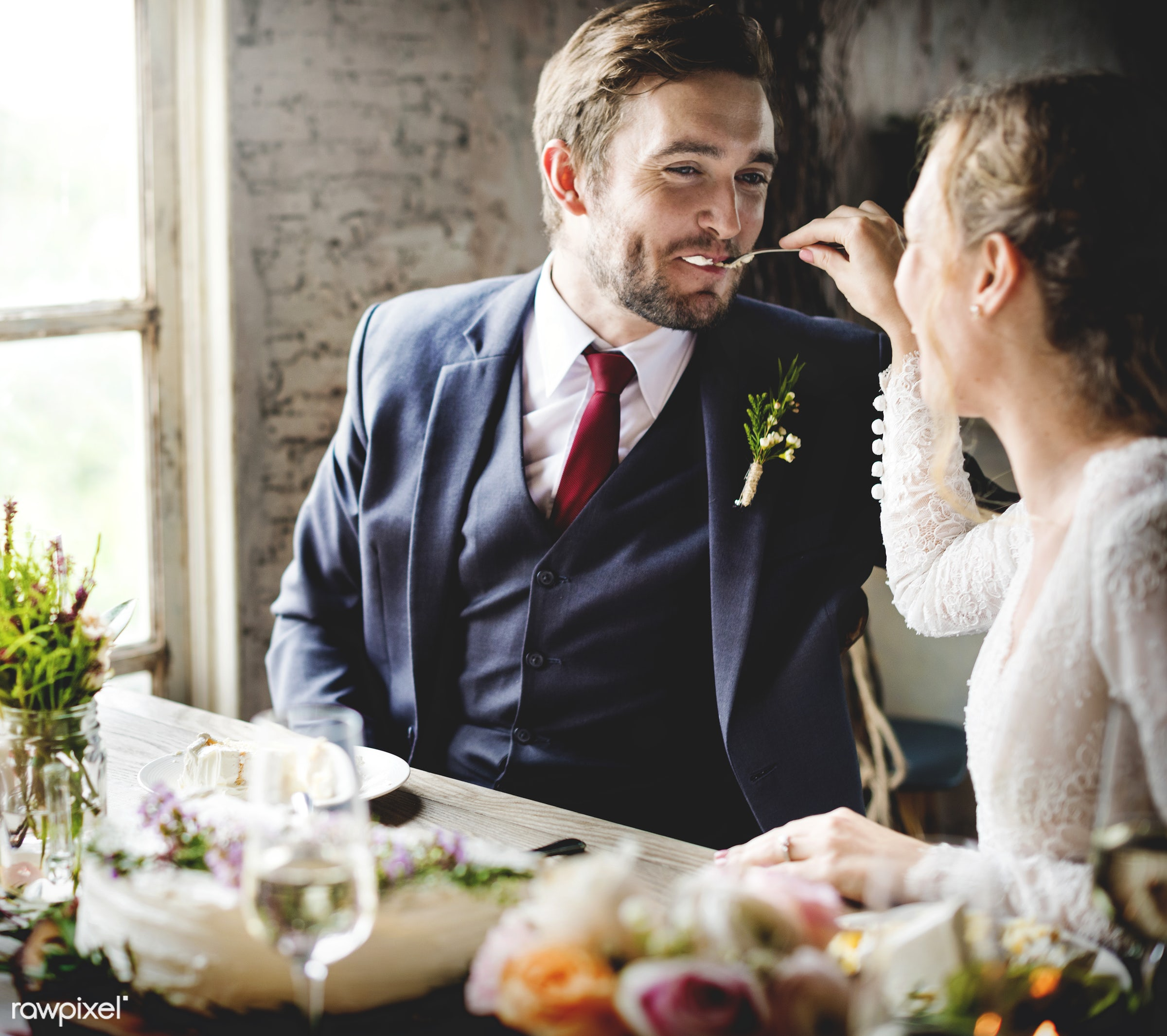 expression, person, people, together, love, married, gather, woman, drink, flowers, wine, cake, happiness, table, clink,...